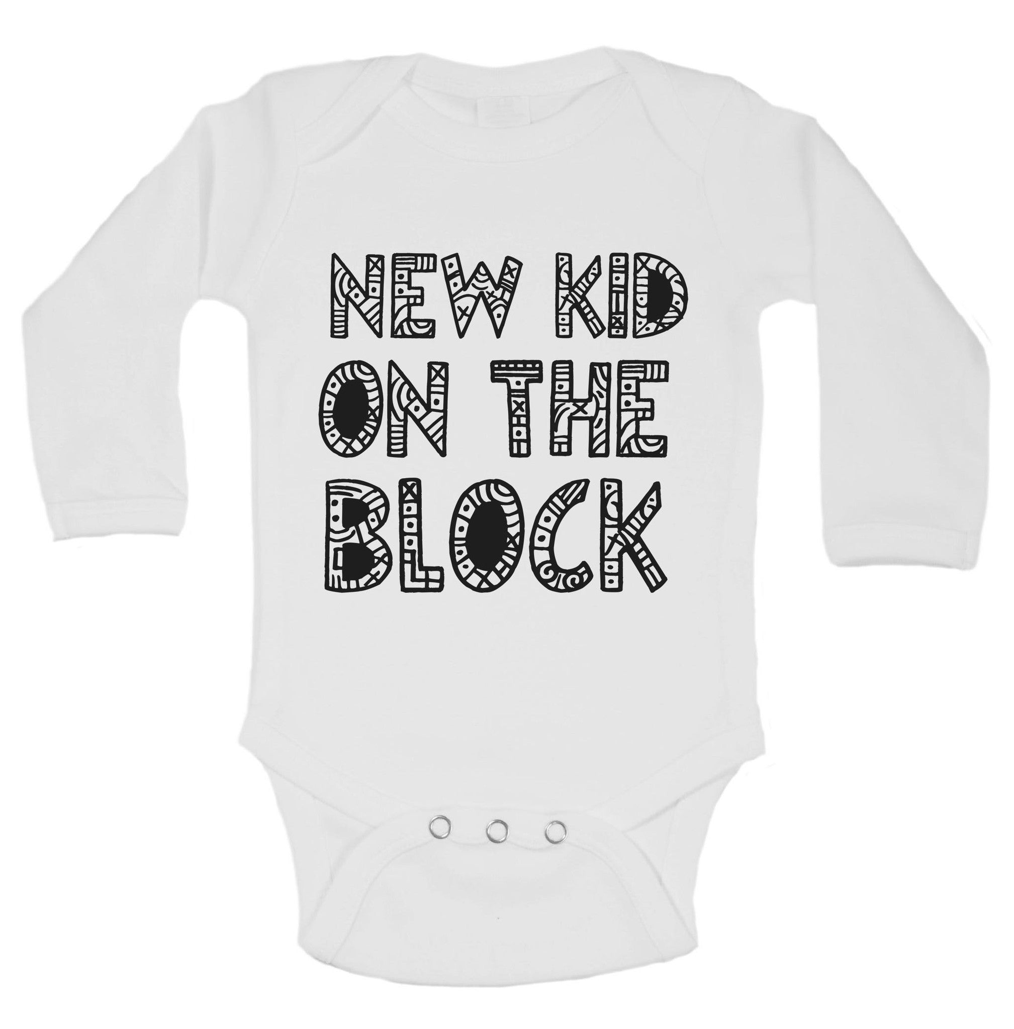 New Kid On The Block Funny Kids Onesie - B201 - Funny Shirts Tank Tops Burnouts and Triblends  - 1