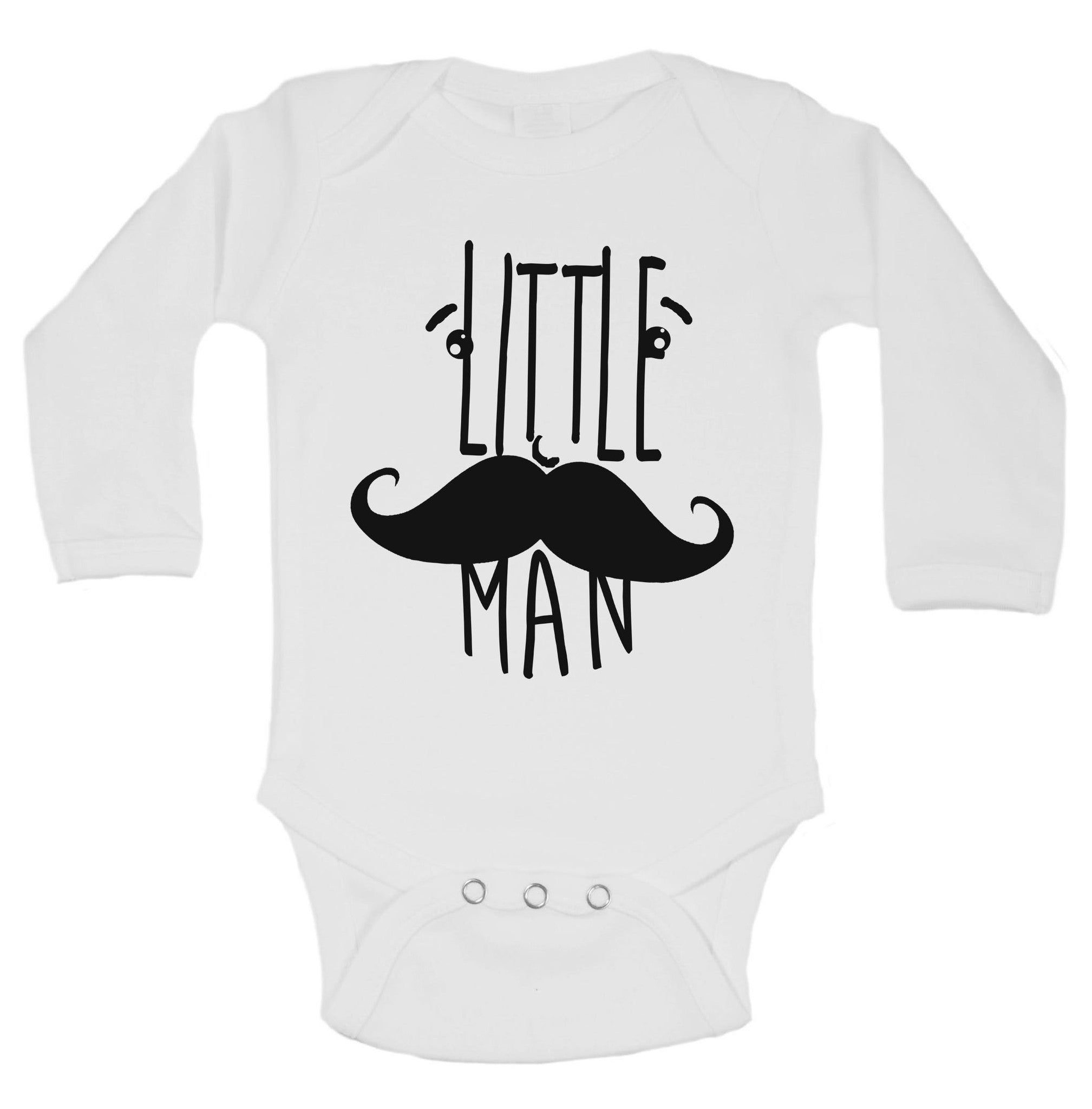 Little Man Funny Kids Onesie - B208 - Funny Shirts Tank Tops Burnouts and Triblends  - 1