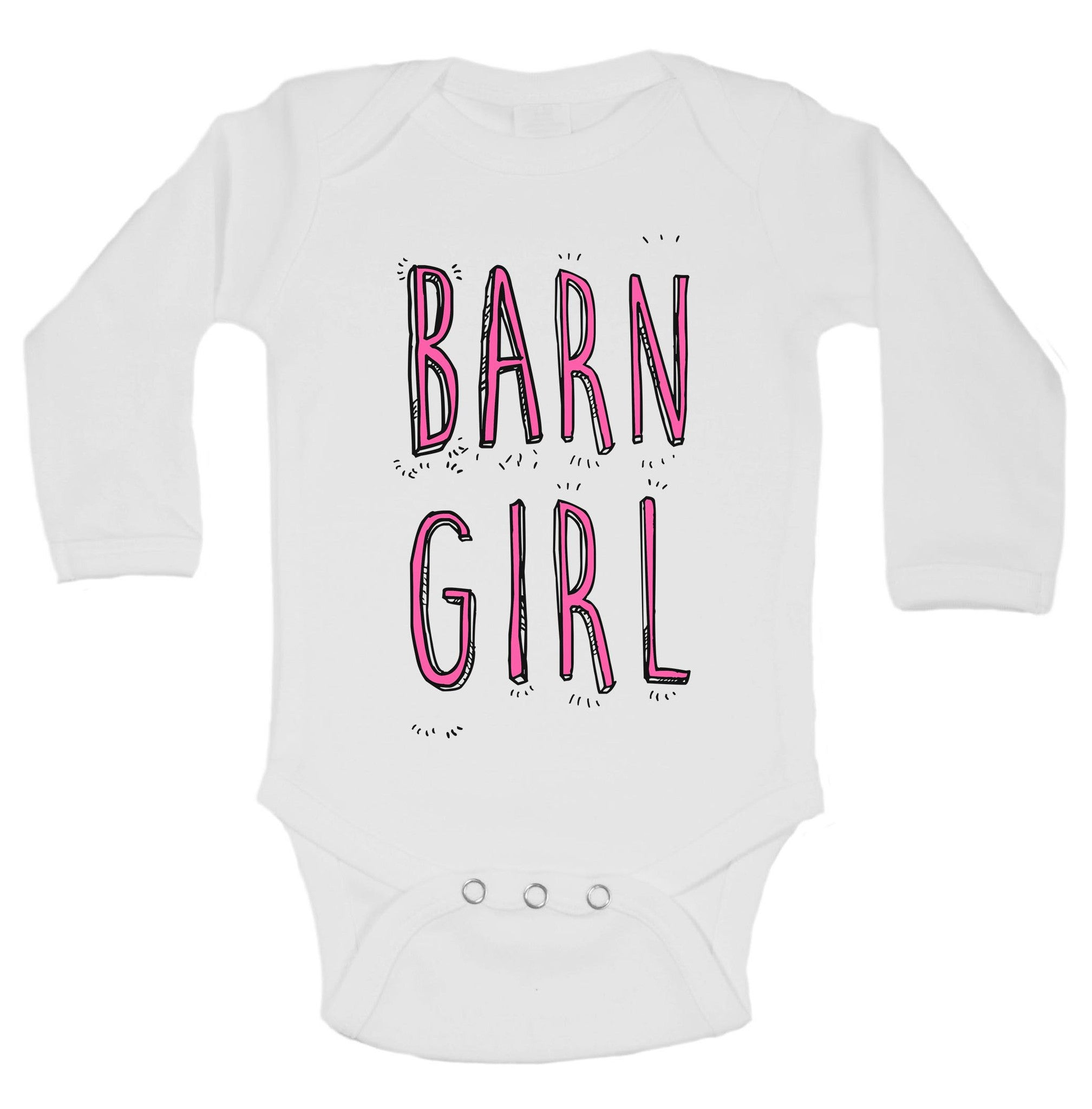 Barn Girl Funny Kids Onesie - B209 - Funny Shirts Tank Tops Burnouts and Triblends  - 1