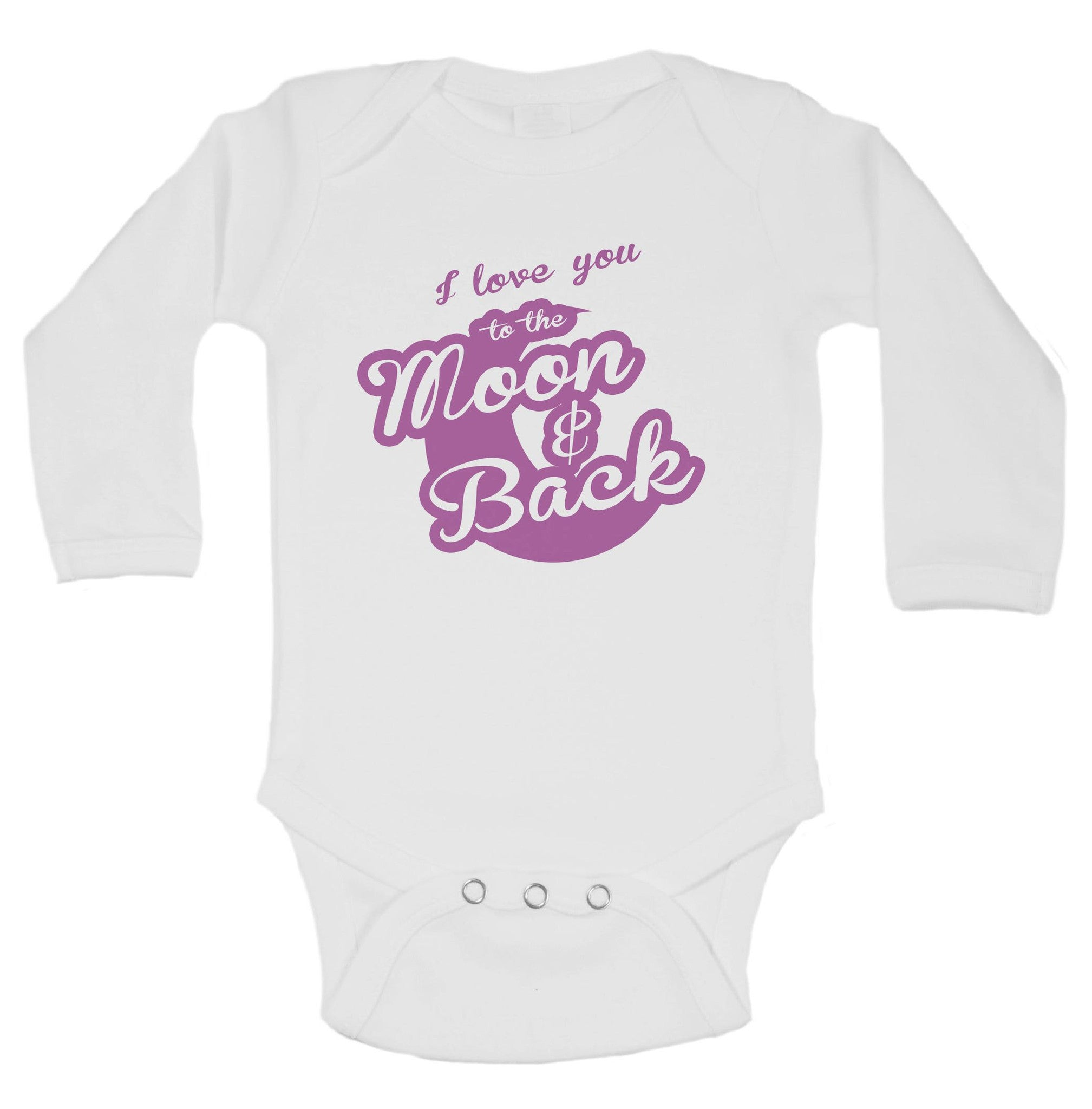 I Love You To The Moon & Back Funny Kids Onesie - B20 - Funny Shirts Tank Tops Burnouts and Triblends  - 1
