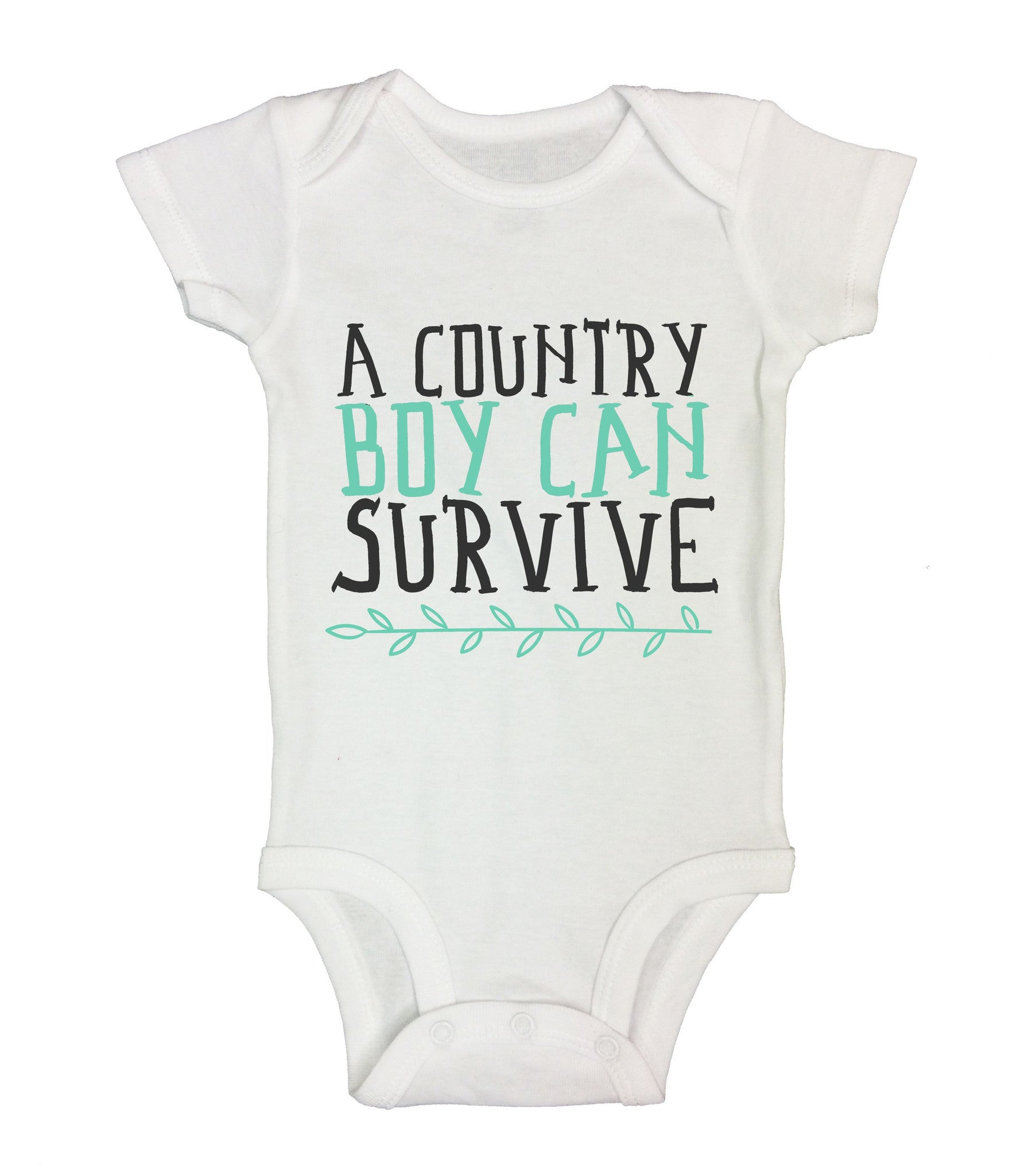 A Country Boy Can Survive Funny Kids Onesie - B214 - Funny Shirts Tank Tops Burnouts and Triblends  - 2