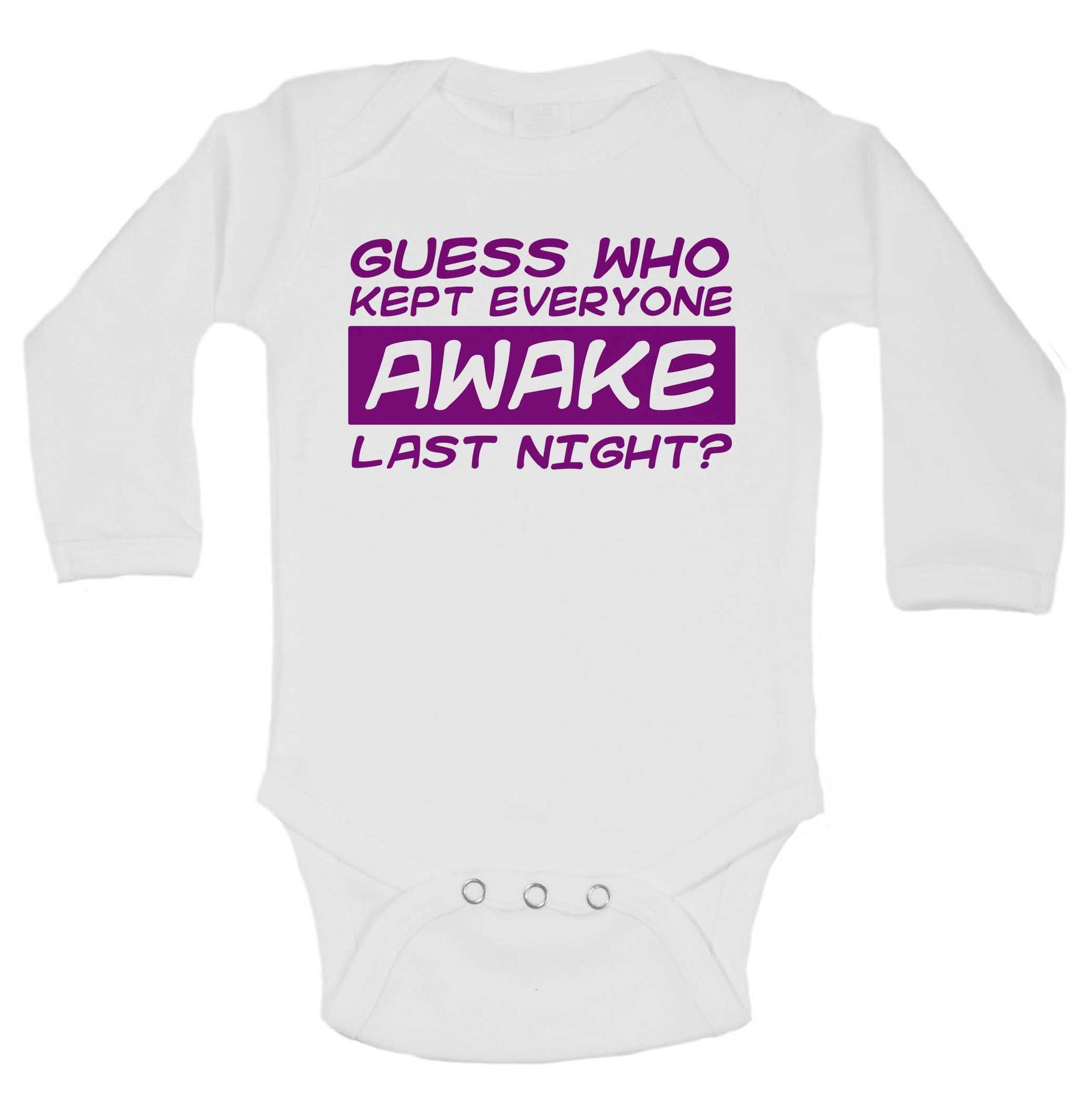 Guess Who Kept Everyone Awake Last Night? Funny Kids Onesie - B223 - Funny Shirts Tank Tops Burnouts and Triblends  - 1