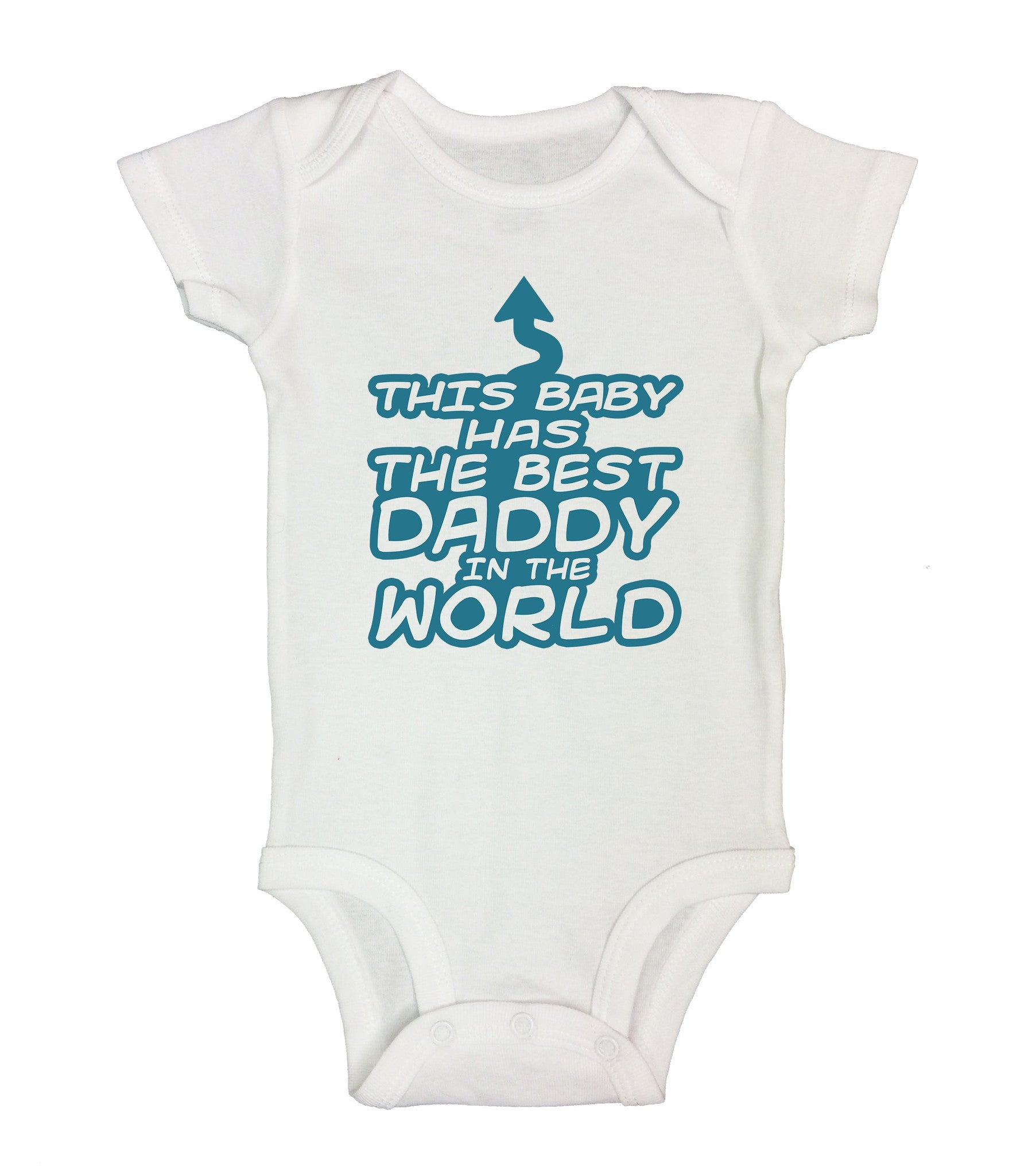 This Baby Has The Best Daddy In The World Funny Kids Onesie - B28 - Funny Shirts Tank Tops Burnouts and Triblends  - 2