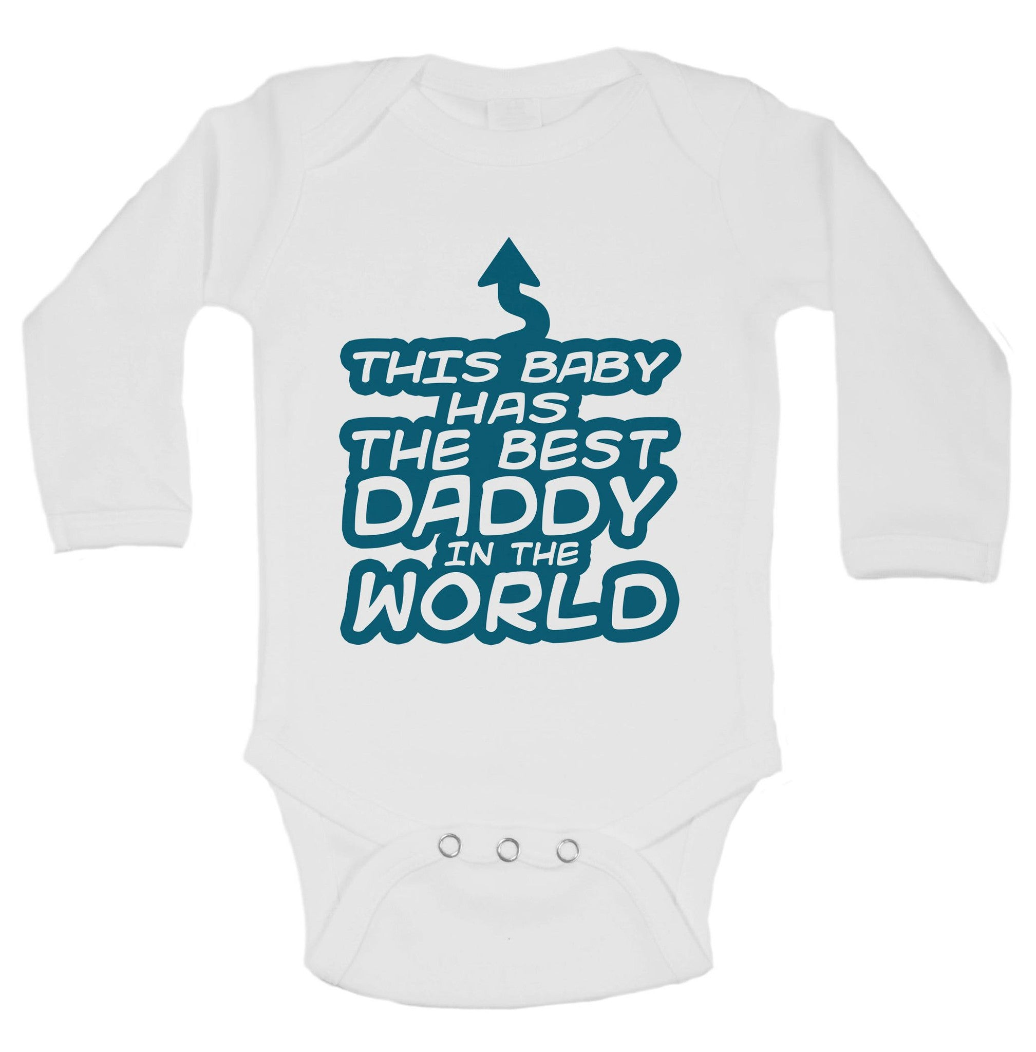This Baby Has The Best Daddy In The World Funny Kids Onesie - B28 - Funny Shirts Tank Tops Burnouts and Triblends  - 1