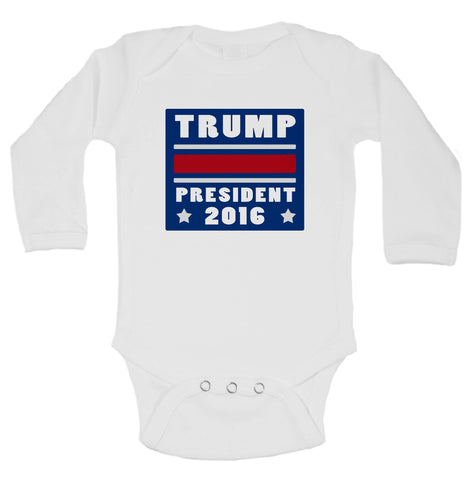 Trump President 2016 Funny Kids Onesie - B30 - Funny Shirts Tank Tops Burnouts and Triblends