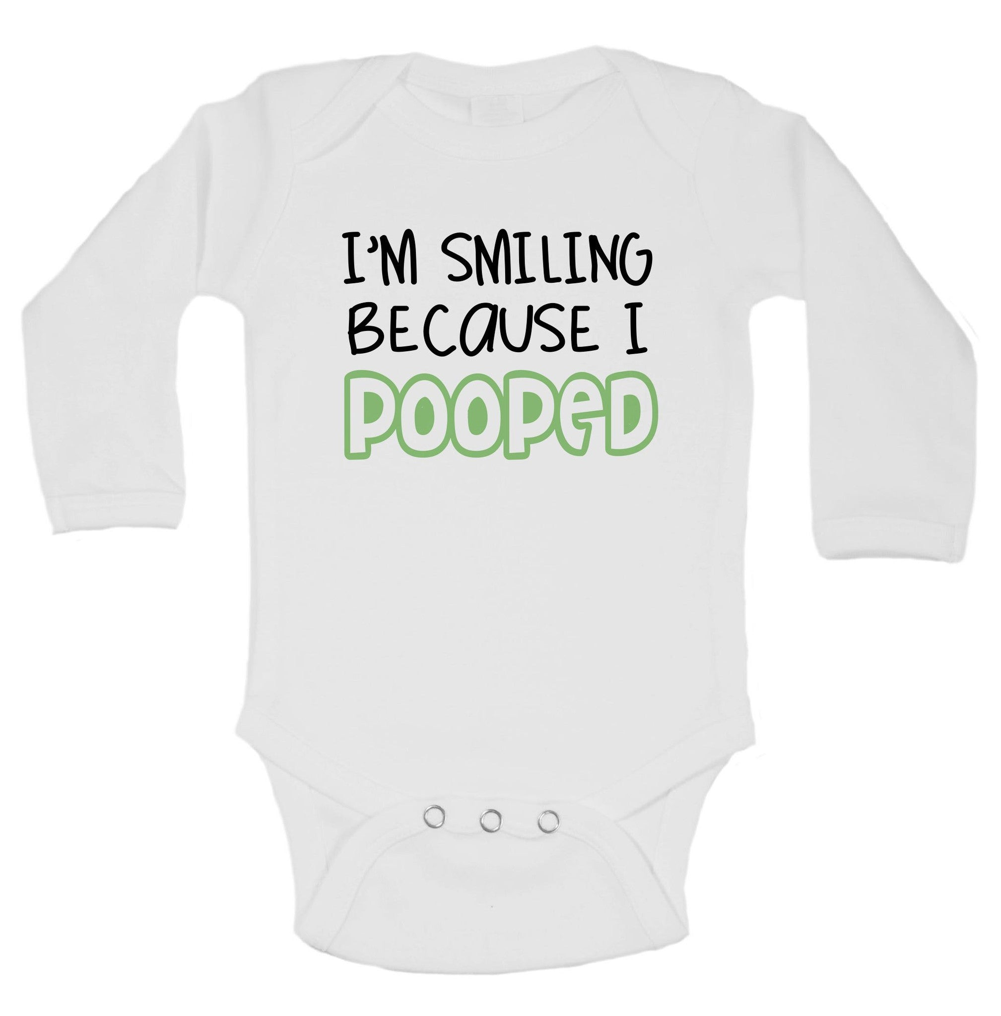 I'm Smiling Because I Pooped Funny Kids Onesie - B32 - Funny Shirts Tank Tops Burnouts and Triblends  - 1
