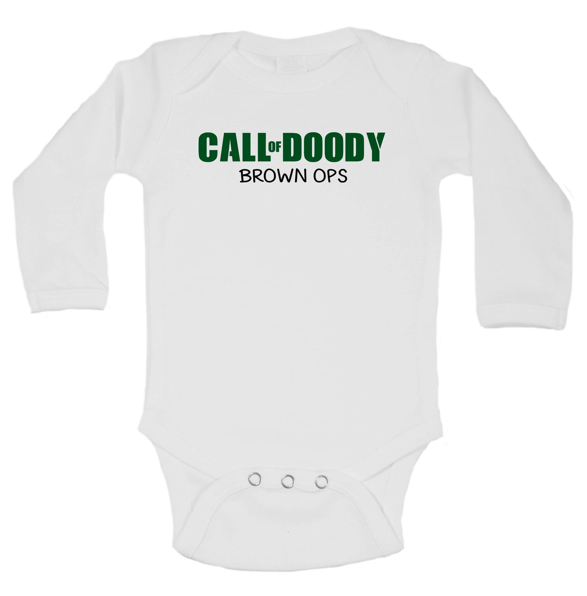 Call Of Doody Brown Ops Funny Kids Onesie - B38 - Funny Shirts Tank Tops Burnouts and Triblends  - 1