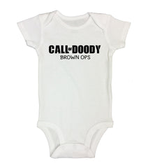 Call Of Doody Brown Ops Funny Kids Onesie - B38 - Funny Shirts Tank Tops Burnouts and Triblends  - 2