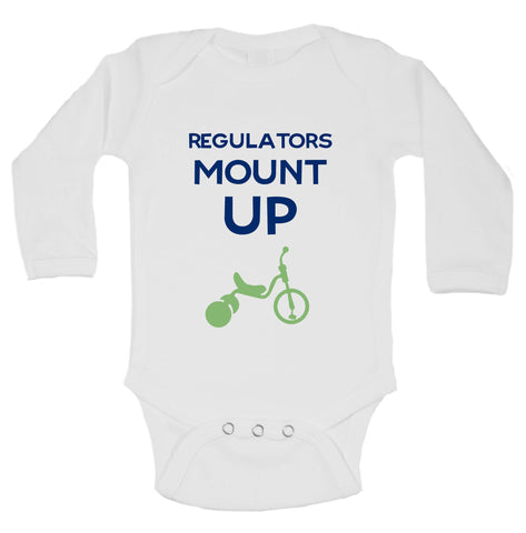 Regulators Mount Up Funny Kids Onesie - B3 - Funny Shirts Tank Tops Burnouts and Triblends  - 1