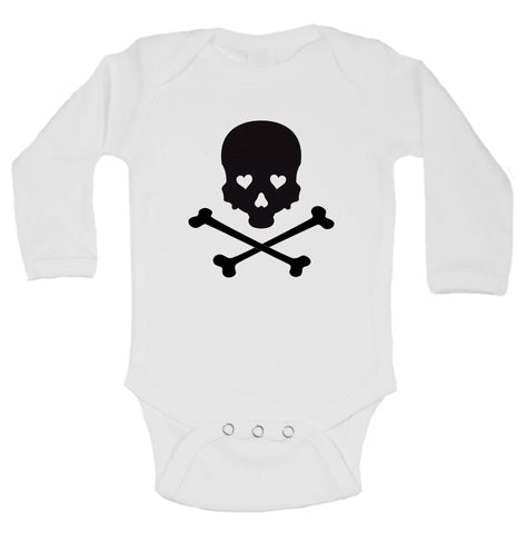 Skull Funny Kids Onesie - B45 - Funny Shirts Tank Tops Burnouts and Triblends  - 1