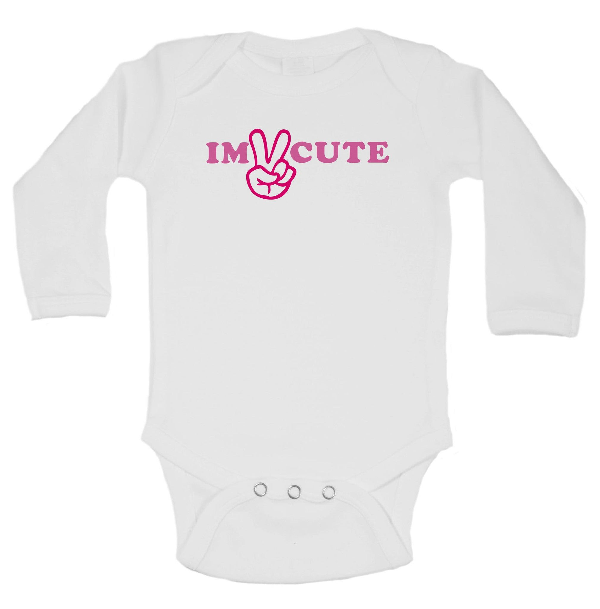 Im Cute Funny Kids Onesie - B56 - Funny Shirts Tank Tops Burnouts and Triblends  - 1