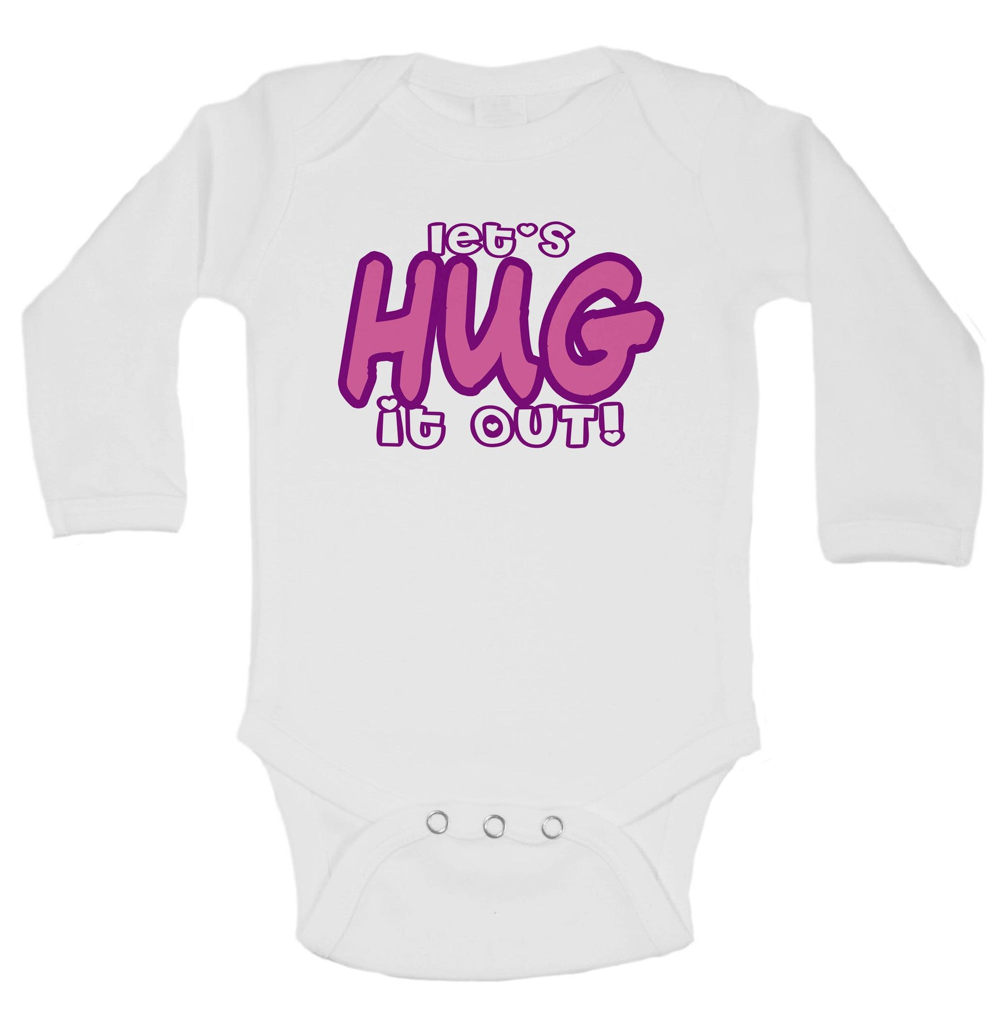 Let's Hug It Out! Funny Kids Onesie - B57 - Funny Shirts Tank Tops Burnouts and Triblends  - 1