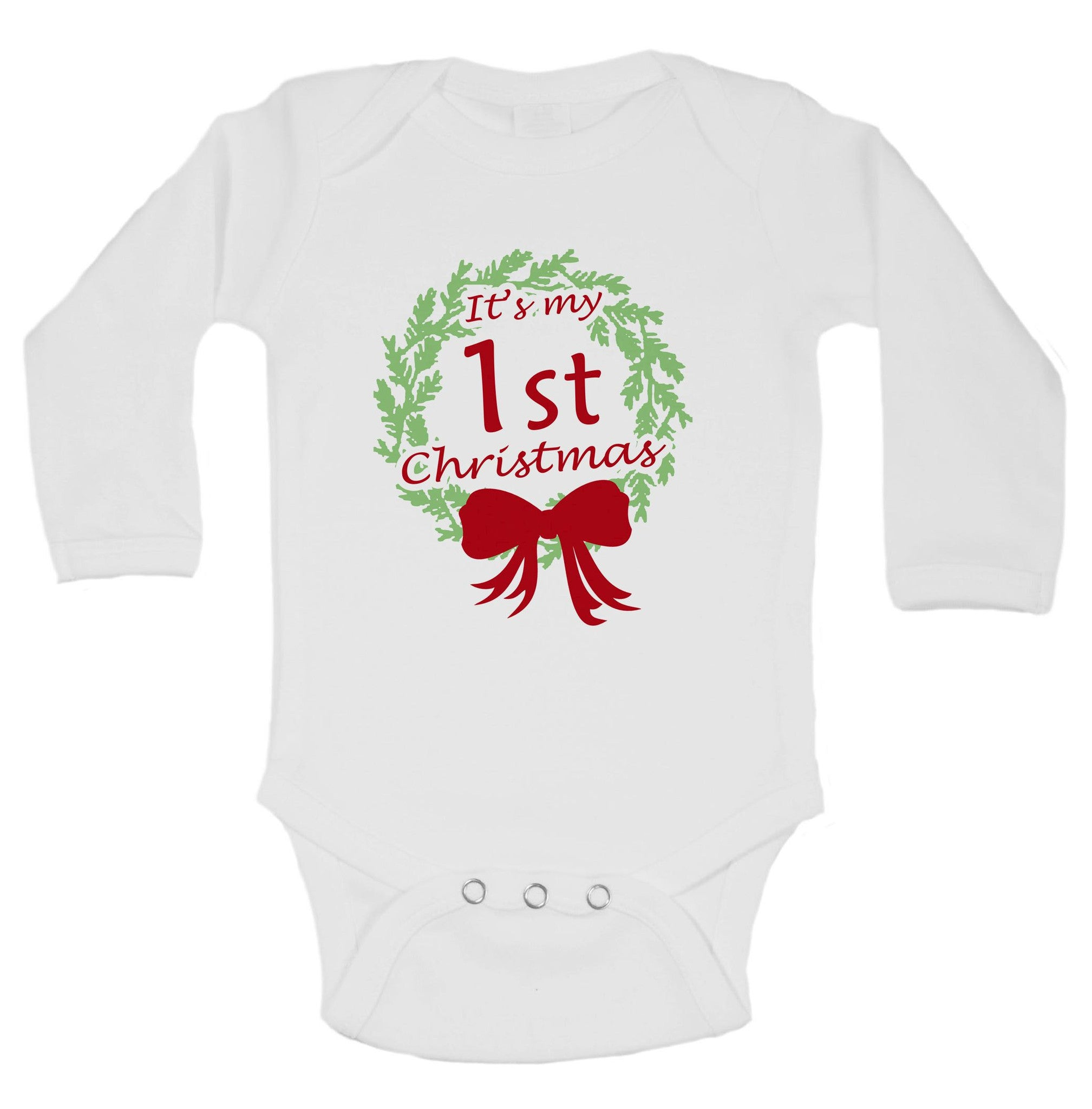 It's My 1st Christmas Funny Kids Onesie - B58 - Funny Shirts Tank Tops Burnouts and Triblends  - 1