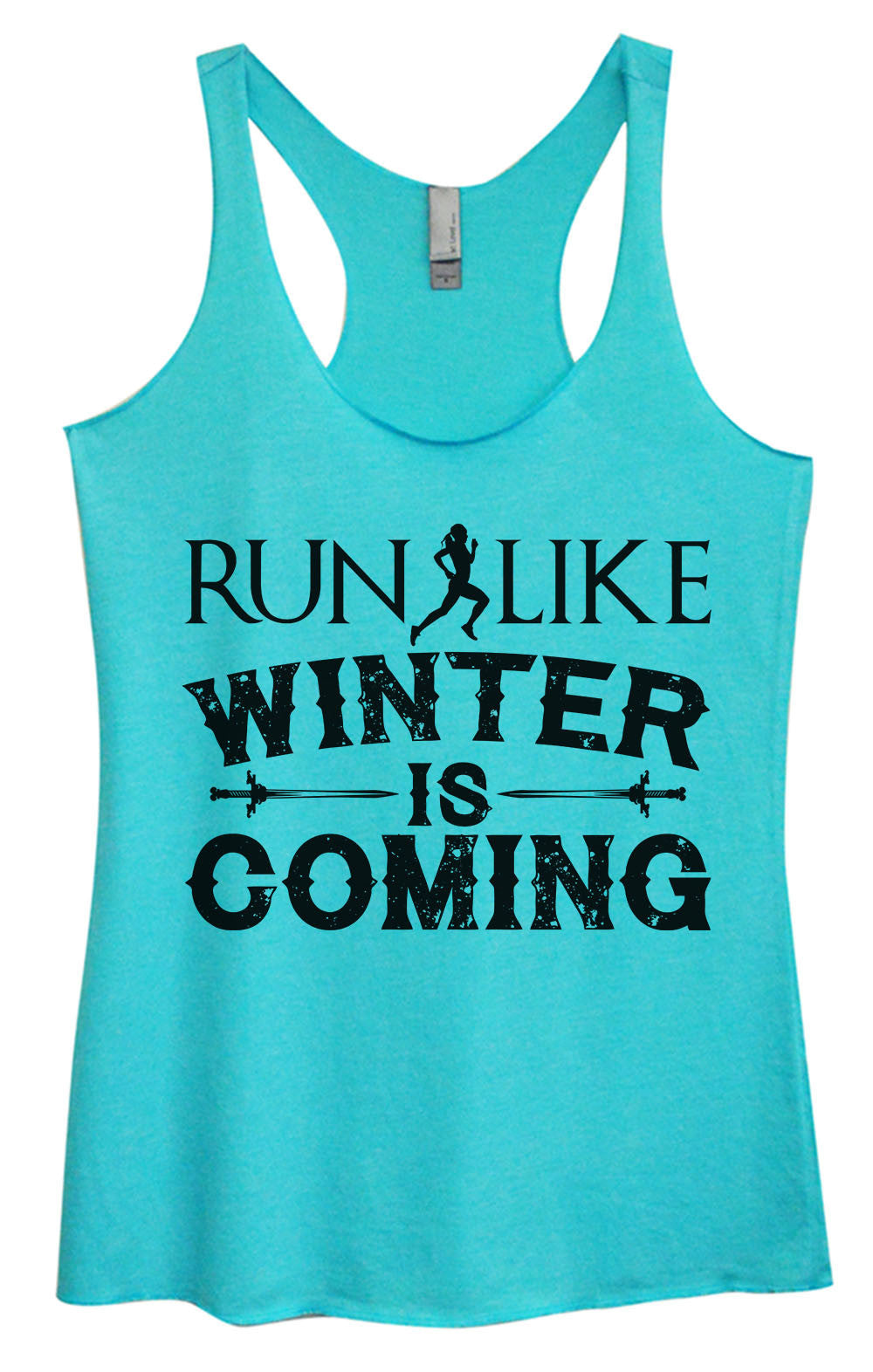 Womens Fashion Triblend Tank Top - Run Like Winter Is Coming - Tri-BB20 - Funny Shirts Tank Tops Burnouts and Triblends  - 3