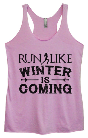 Womens Fashion Triblend Tank Top - Running Is Cheaper Than Therapy - Tri-574