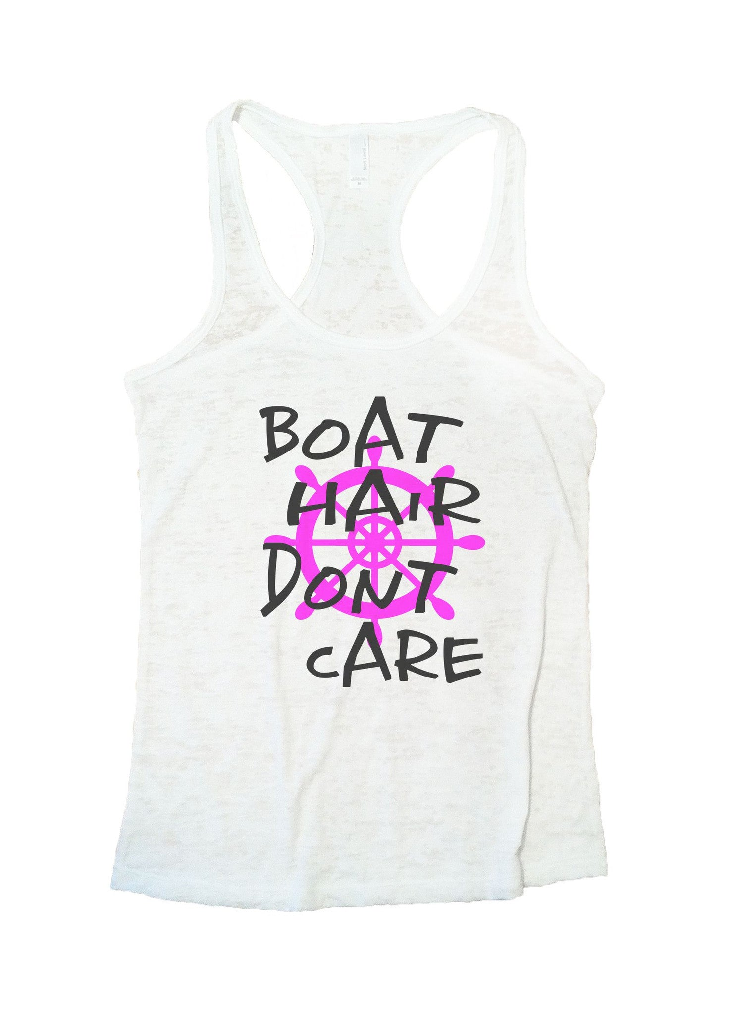 Boat Hair Dont Care Burnout Tank Top By BurnoutTankTops.com - BB57 - Funny Shirts Tank Tops Burnouts and Triblends  - 5