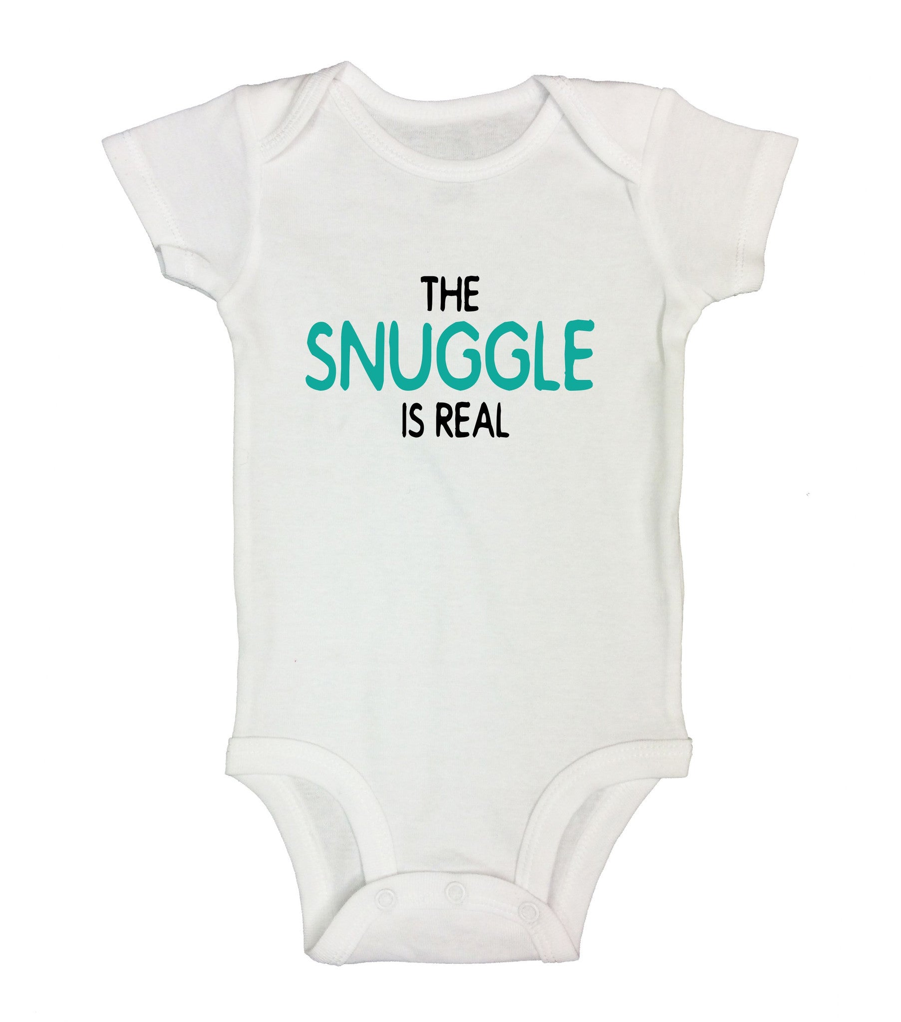 The Snuggle Is Real Funny Kids Onesie - B4 - Funny Shirts Tank Tops Burnouts and Triblends  - 2