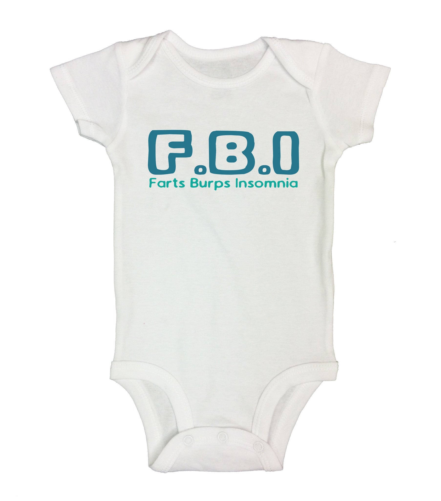 F.B.I Farts Burps Insomnia Funny Kids Onesie - B43 - Funny Shirts Tank Tops Burnouts and Triblends  - 2