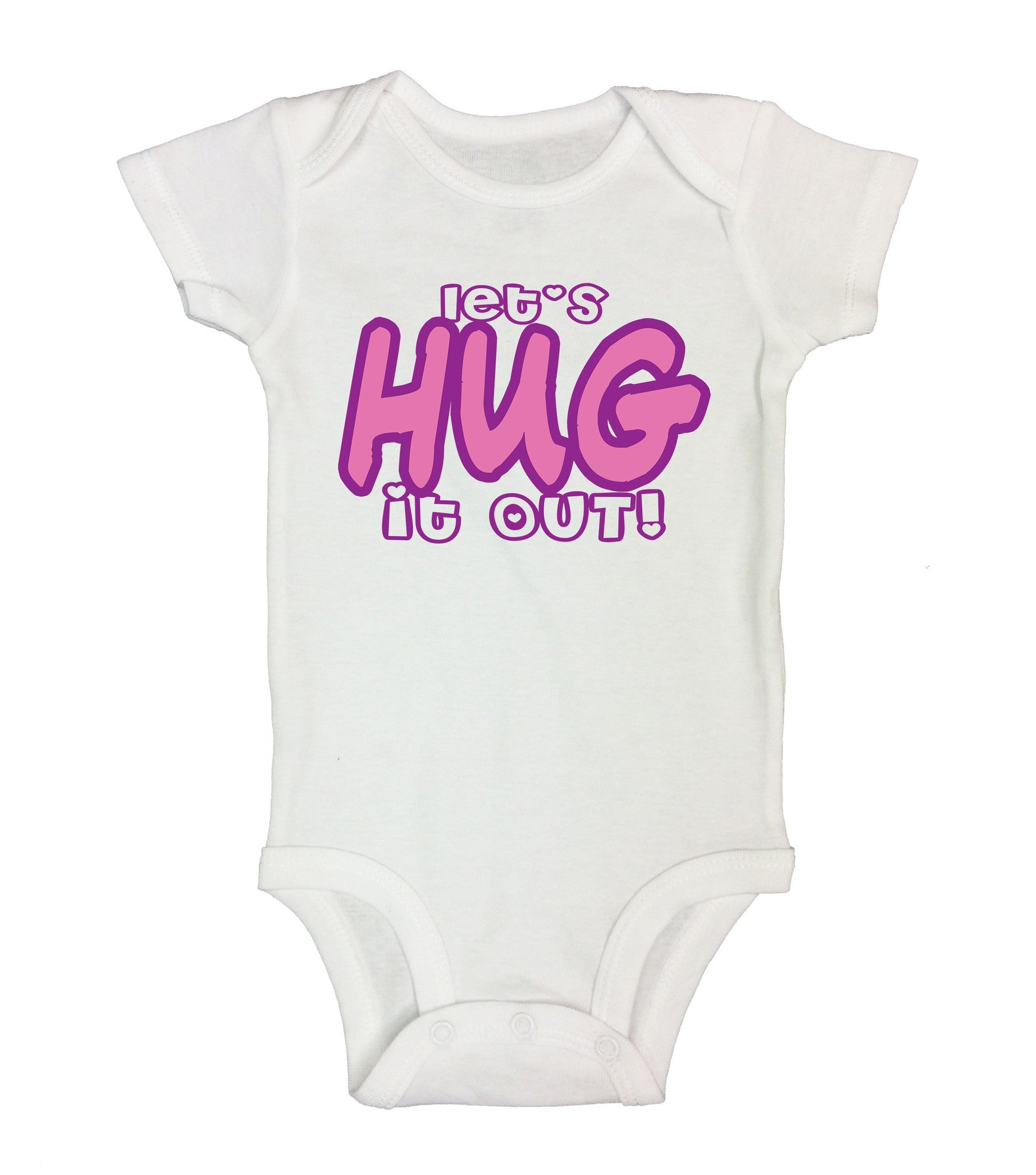 Let's Hug It Out! Funny Kids Onesie - B57 - Funny Shirts Tank Tops Burnouts and Triblends  - 2
