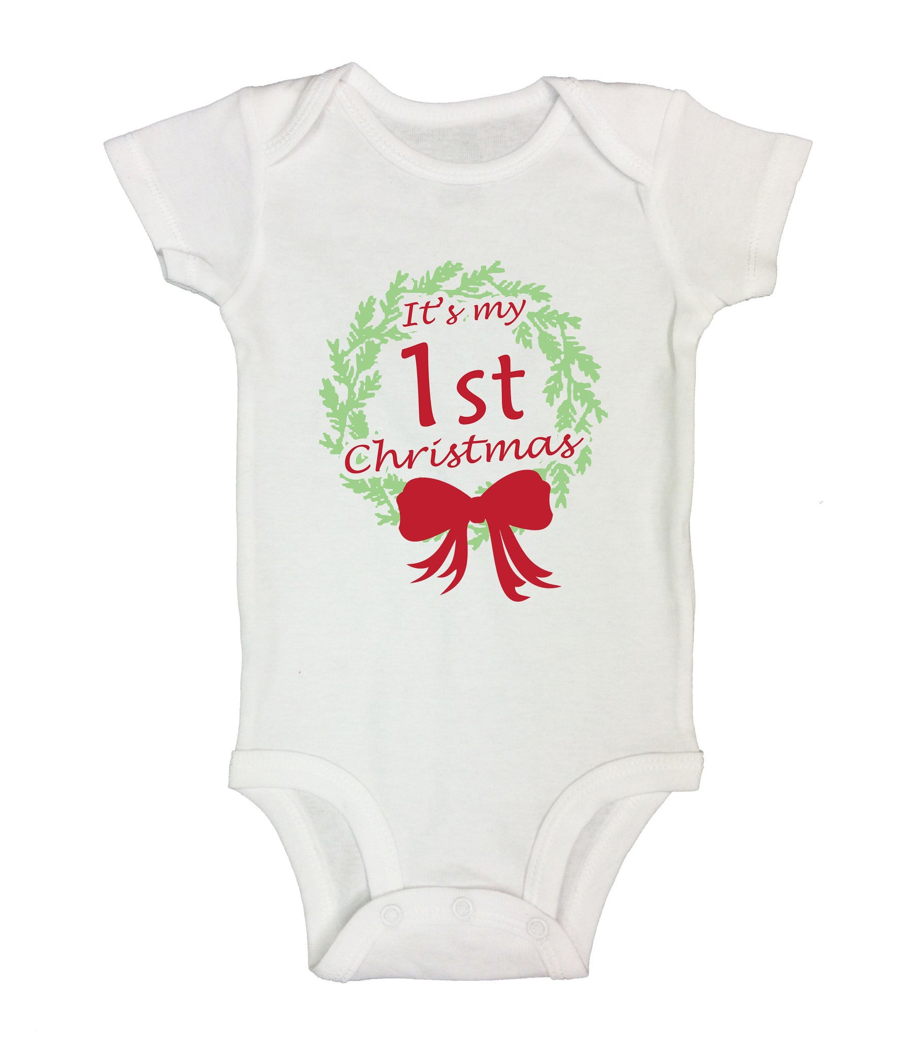 It's My 1st Christmas Funny Kids Onesie - B58 - Funny Shirts Tank Tops Burnouts and Triblends  - 2