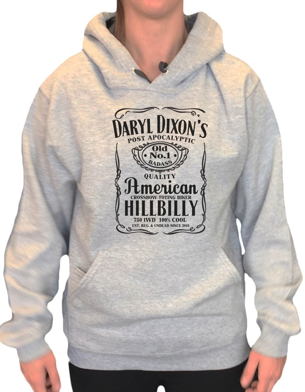 UNISEX HOODIE - Daryl Dixon's American Hillbilly - FUNNY MENS AND WOMENS HOODED SWEATSHIRTS - 2309 Funny Shirt Small / Heather Grey