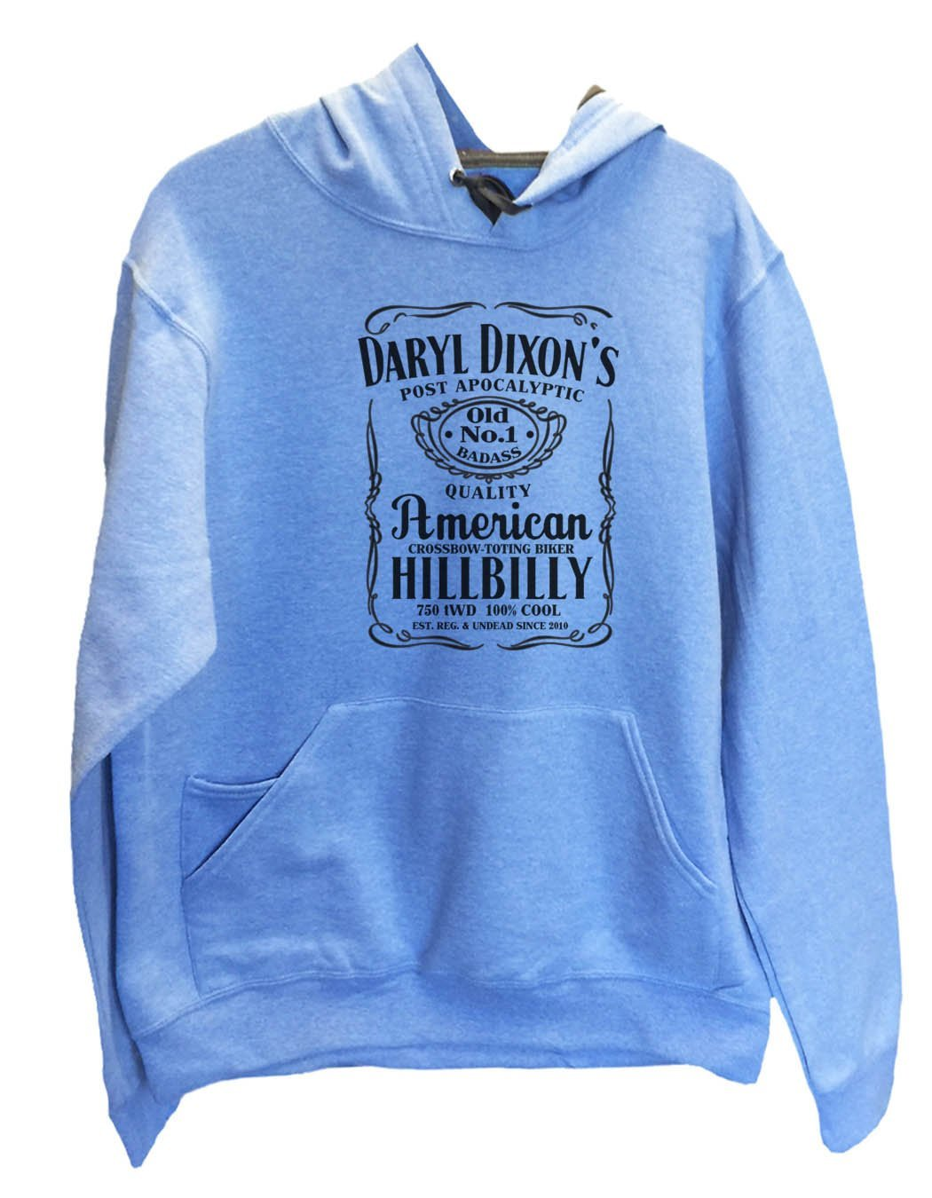 UNISEX HOODIE - Daryl Dixon's American Hillbilly - FUNNY MENS AND WOMENS HOODED SWEATSHIRTS - 2309 Funny Shirt Small / North Carolina Blue
