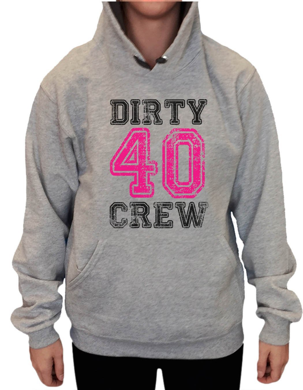 UNISEX HOODIE - Dirty Forty Crew - FUNNY MENS AND WOMENS HOODED SWEATSHIRTS - 2146 Funny Shirt Small / Heather Grey