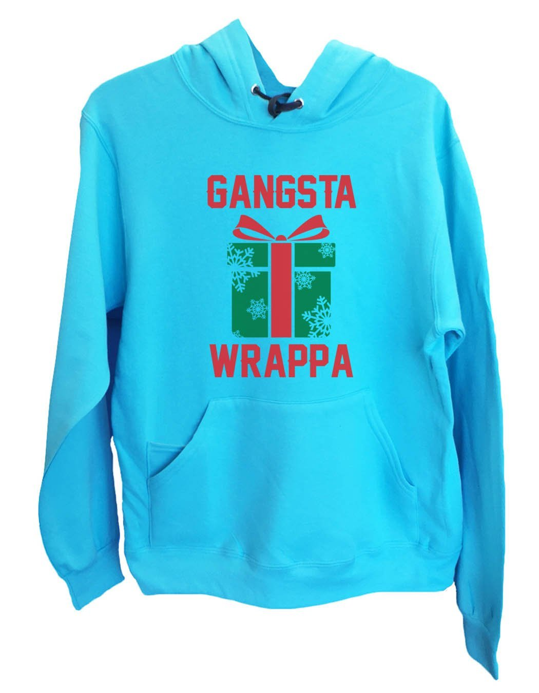UNISEX HOODIE - Gangasta Wrappa - FUNNY MENS AND WOMENS HOODED SWEATSHIRTS - 2381 Funny Shirt