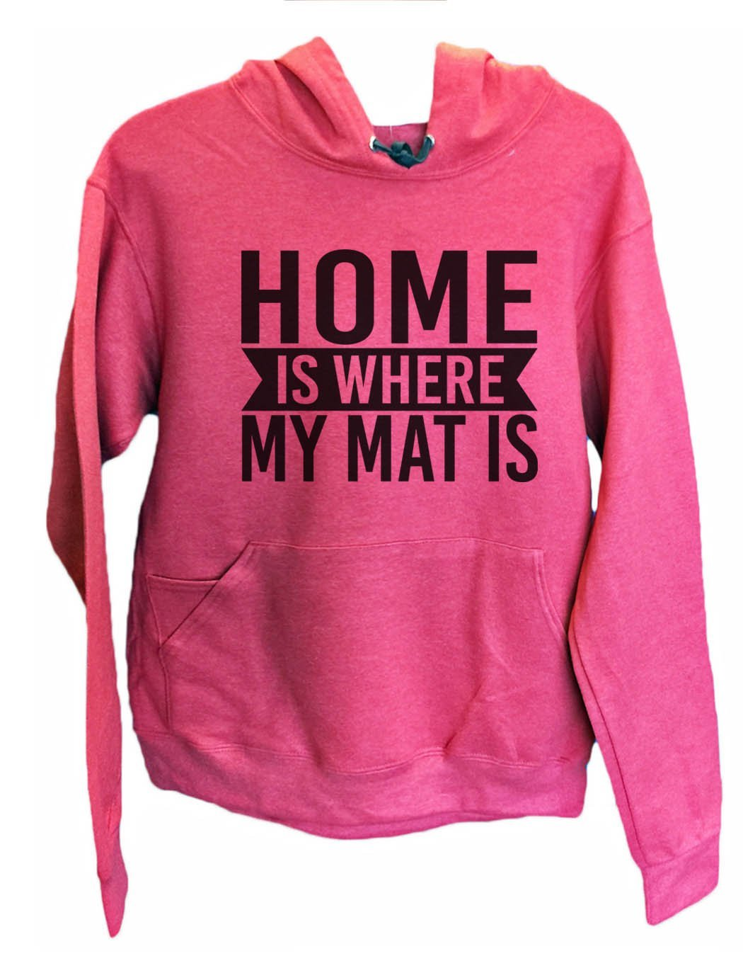 UNISEX HOODIE - Home Is Where My Mat Is - FUNNY MENS AND WOMENS HOODED SWEATSHIRTS - 2132 Funny Shirt Small / Cranberry Red