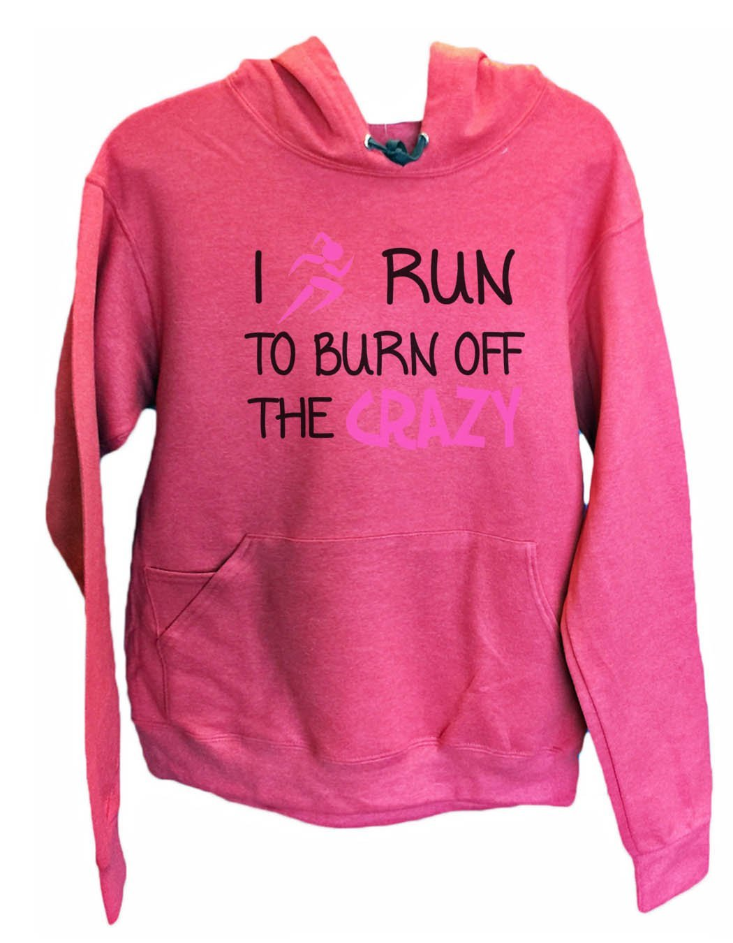 UNISEX HOODIE - I run to burn off the crazy - FUNNY MENS AND WOMENS HOODED SWEATSHIRTS - 532 Funny Shirt Small / Cranberry Red