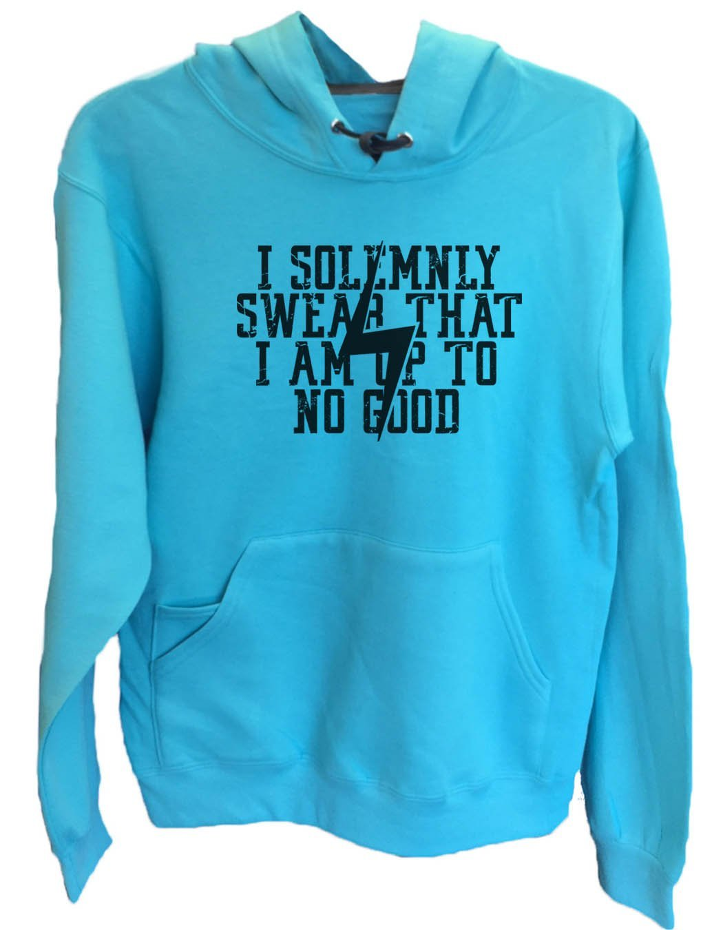 UNISEX HOODIE - I Solemnly Swear That I Am Up To No Good - FUNNY MENS AND WOMENS HOODED SWEATSHIRTS - 2136 Funny Shirt Small / Turquoise