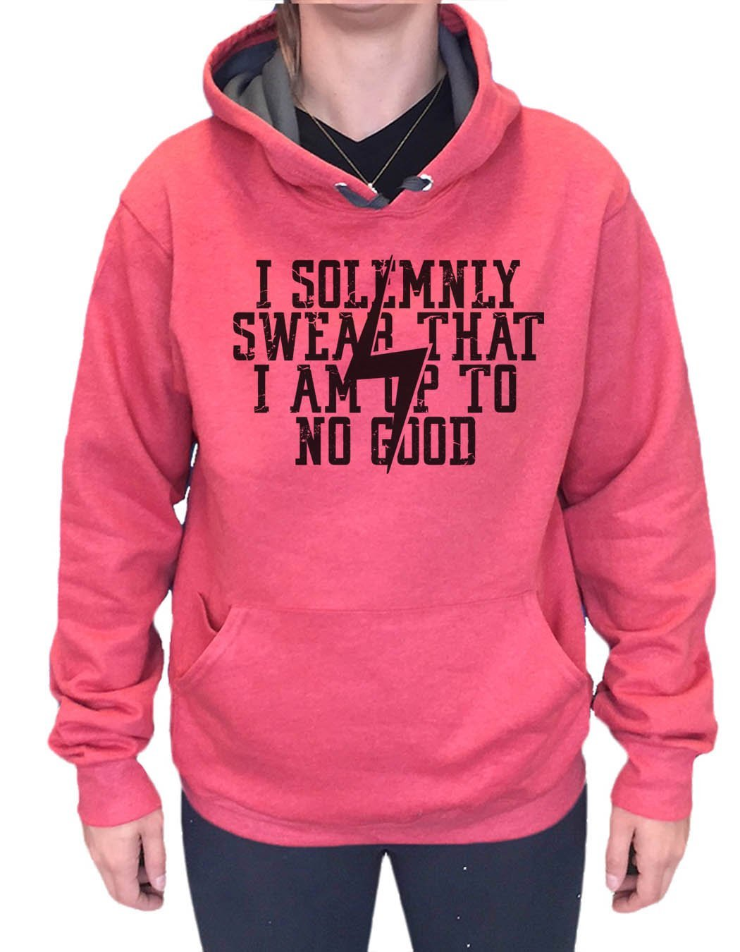 UNISEX HOODIE - I Solemnly Swear That I Am Up To No Good - FUNNY MENS AND WOMENS HOODED SWEATSHIRTS - 2136 Funny Shirt Small / Cranberry Red