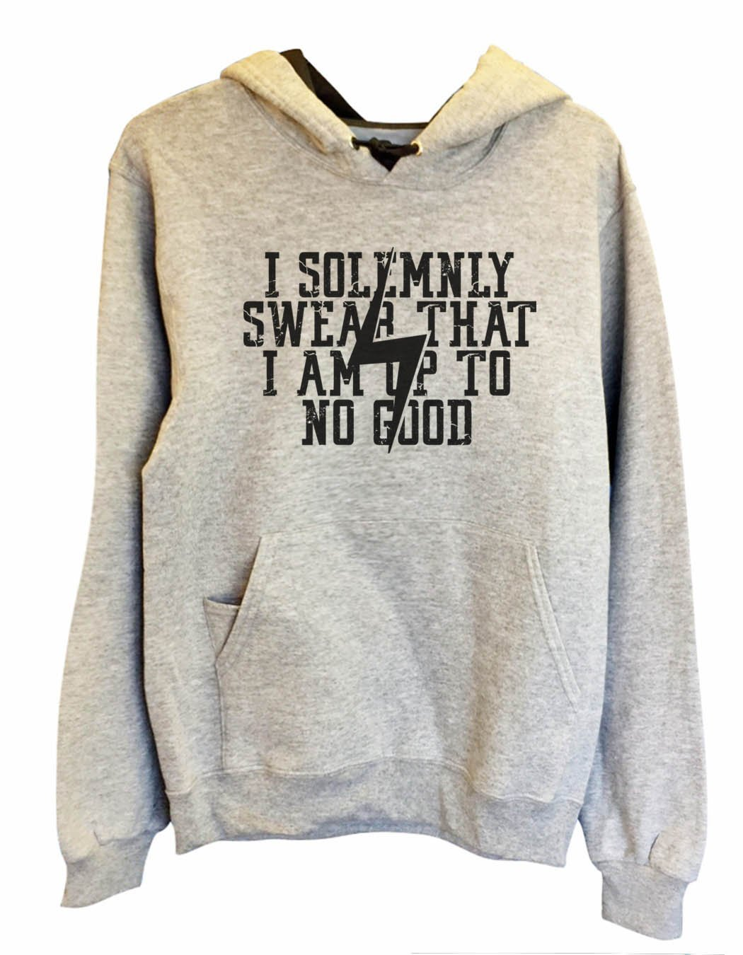 UNISEX HOODIE - I Solemnly Swear That I Am Up To No Good - FUNNY MENS AND WOMENS HOODED SWEATSHIRTS - 2136 Funny Shirt Small / Heather Grey