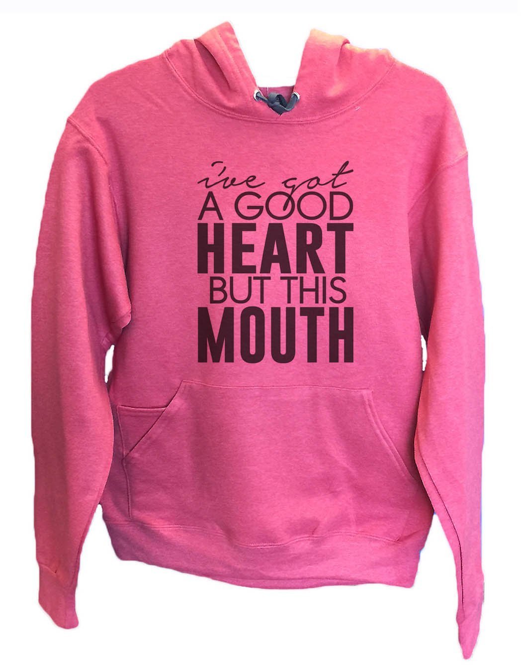 UNISEX HOODIE - I've Got A Good Heart But This Mouth - FUNNY MENS AND WOMENS HOODED SWEATSHIRTS - 2148 Funny Shirt Small / Cranberry Red