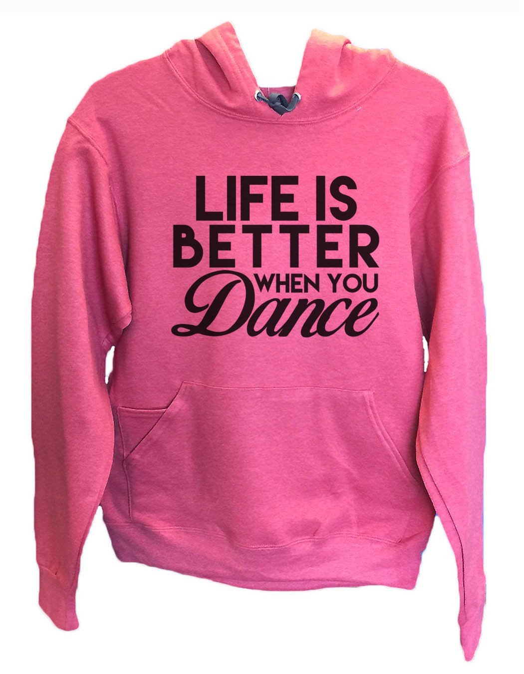 UNISEX HOODIE - Life Is Better When Dance - FUNNY MENS AND WOMENS HOODED SWEATSHIRTS - 2127 Funny Shirt Small / Cranberry Red
