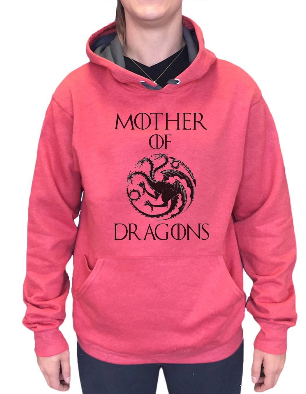 UNISEX HOODIE - Mother Of Dragons - FUNNY MENS AND WOMENS HOODED SWEATSHIRTS - 2775 Funny Shirt Small / Cranberry Red