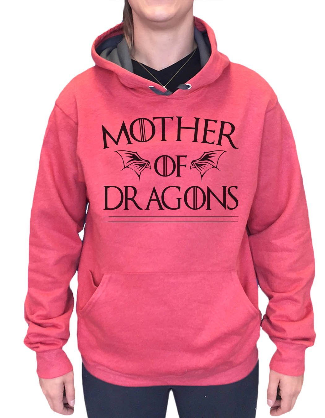 UNISEX HOODIE - Mother Of Dragons Game Of Thrones - FUNNY MENS AND WOMENS HOODED SWEATSHIRTS - 2282 Funny Shirt Small / Cranberry Red