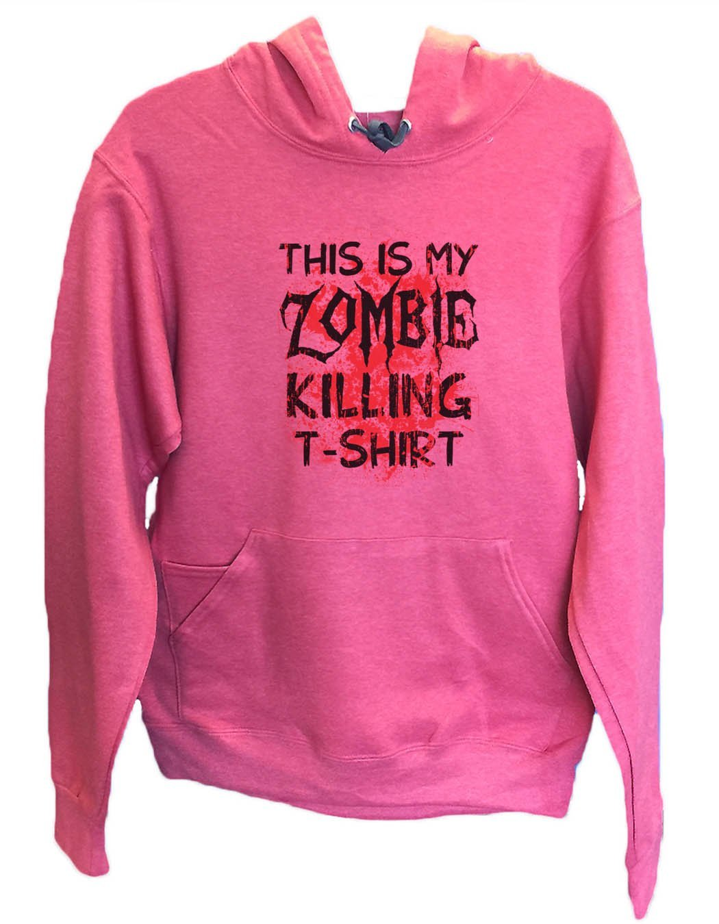 UNISEX HOODIE - This Is My Zombie Killing T-Shirt - FUNNY MENS AND WOMENS HOODED SWEATSHIRTS - 2312 Funny Shirt Small / Cranberry Red