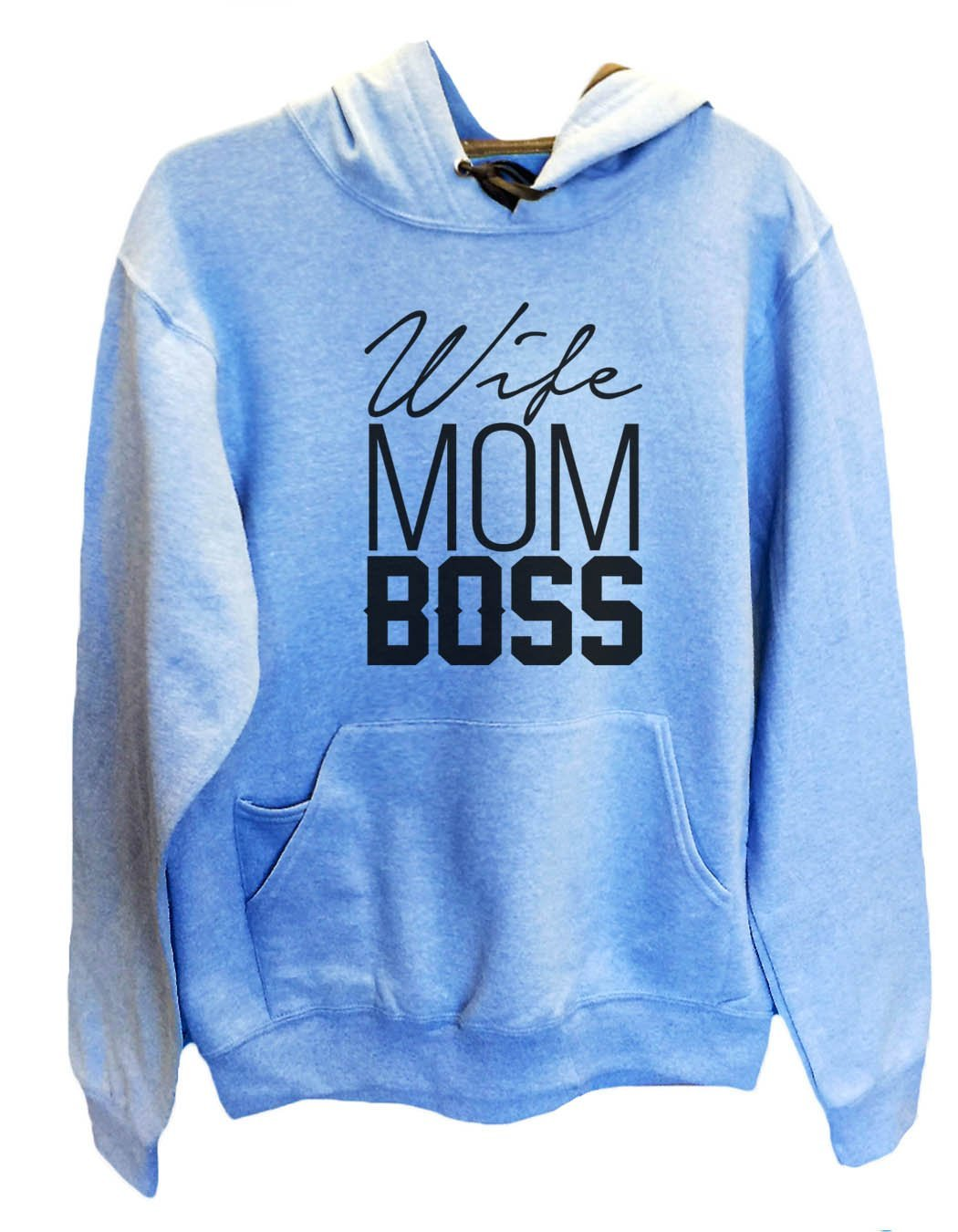 UNISEX HOODIE - Wife Mom Boss - FUNNY MENS AND WOMENS HOODED SWEATSHIRTS - 2156a Funny Shirt Small / North Carolina Blue