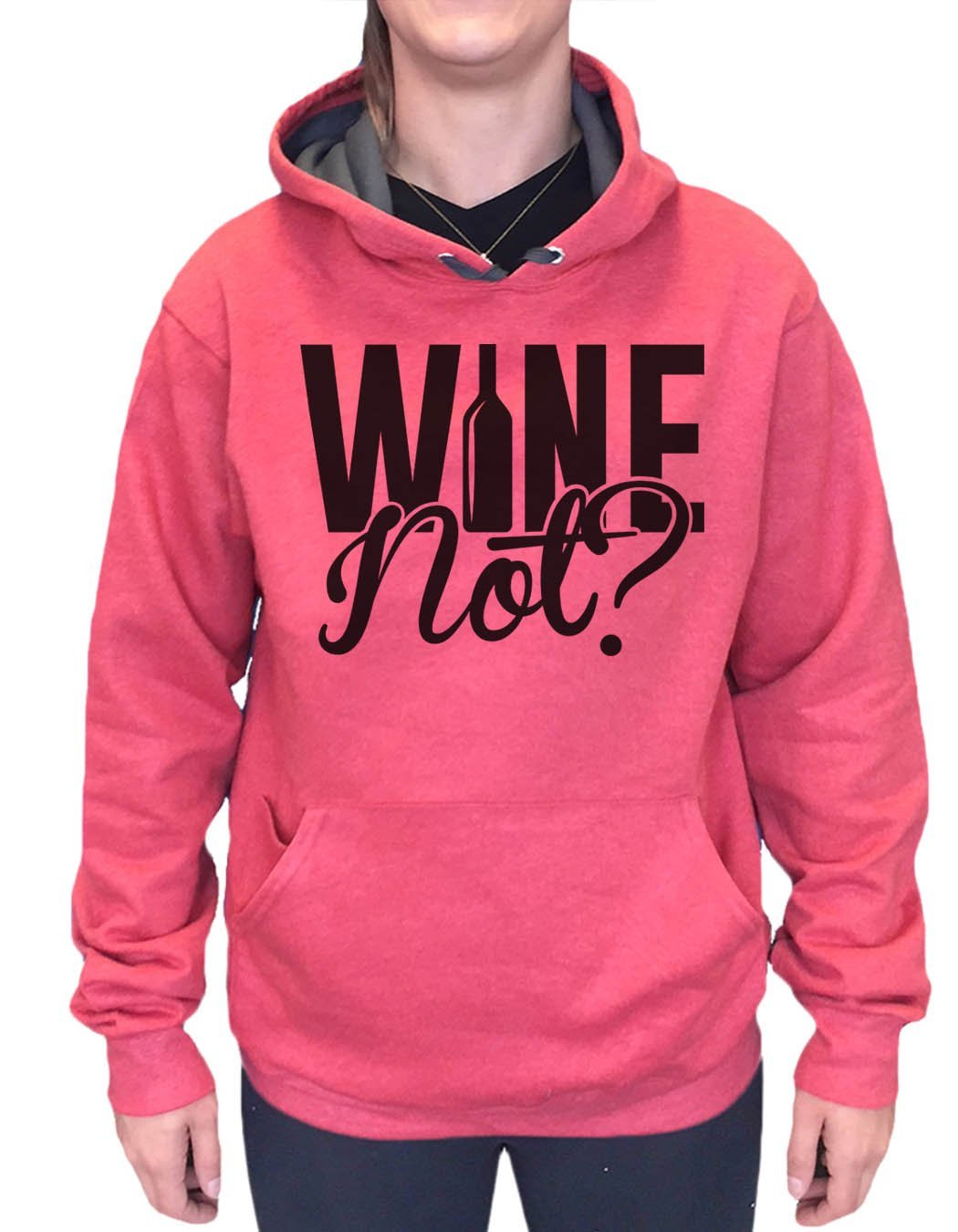 UNISEX HOODIE - Wine Not? - FUNNY MENS AND WOMENS HOODED SWEATSHIRTS - 2161 Funny Shirt Small / Cranberry Red