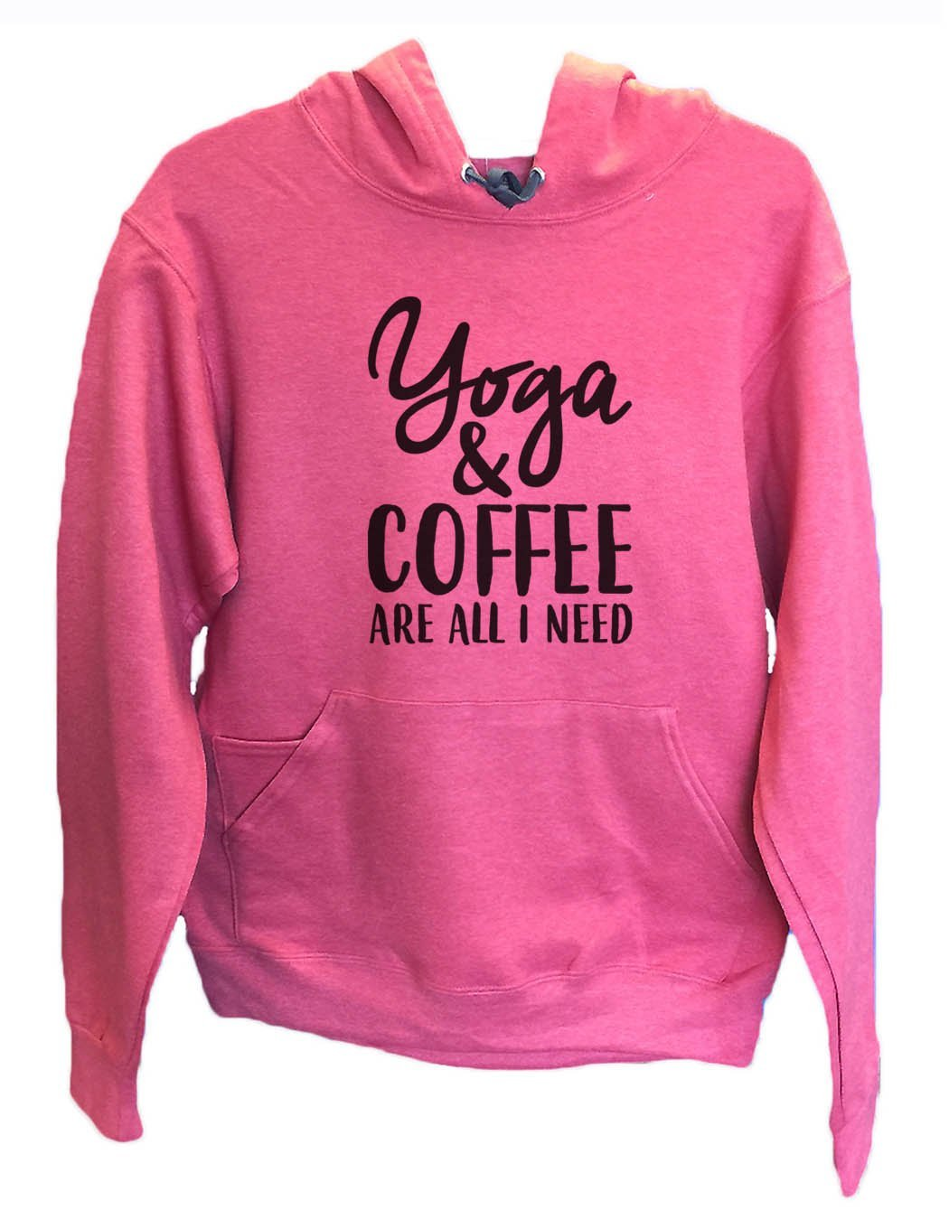 UNISEX HOODIE - Yoga & Coffee Are All I Need - FUNNY MENS AND WOMENS HOODED SWEATSHIRTS - 2174 Funny Shirt Small / Cranberry Red