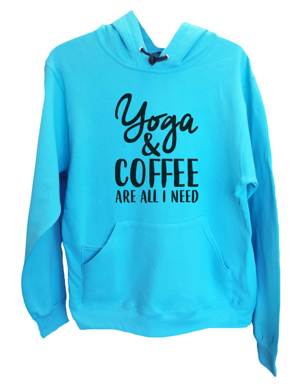 UNISEX HOODIE - Yoga & Coffee Are All I Need - FUNNY MENS AND WOMENS HOODED SWEATSHIRTS - 2174 Funny Shirt