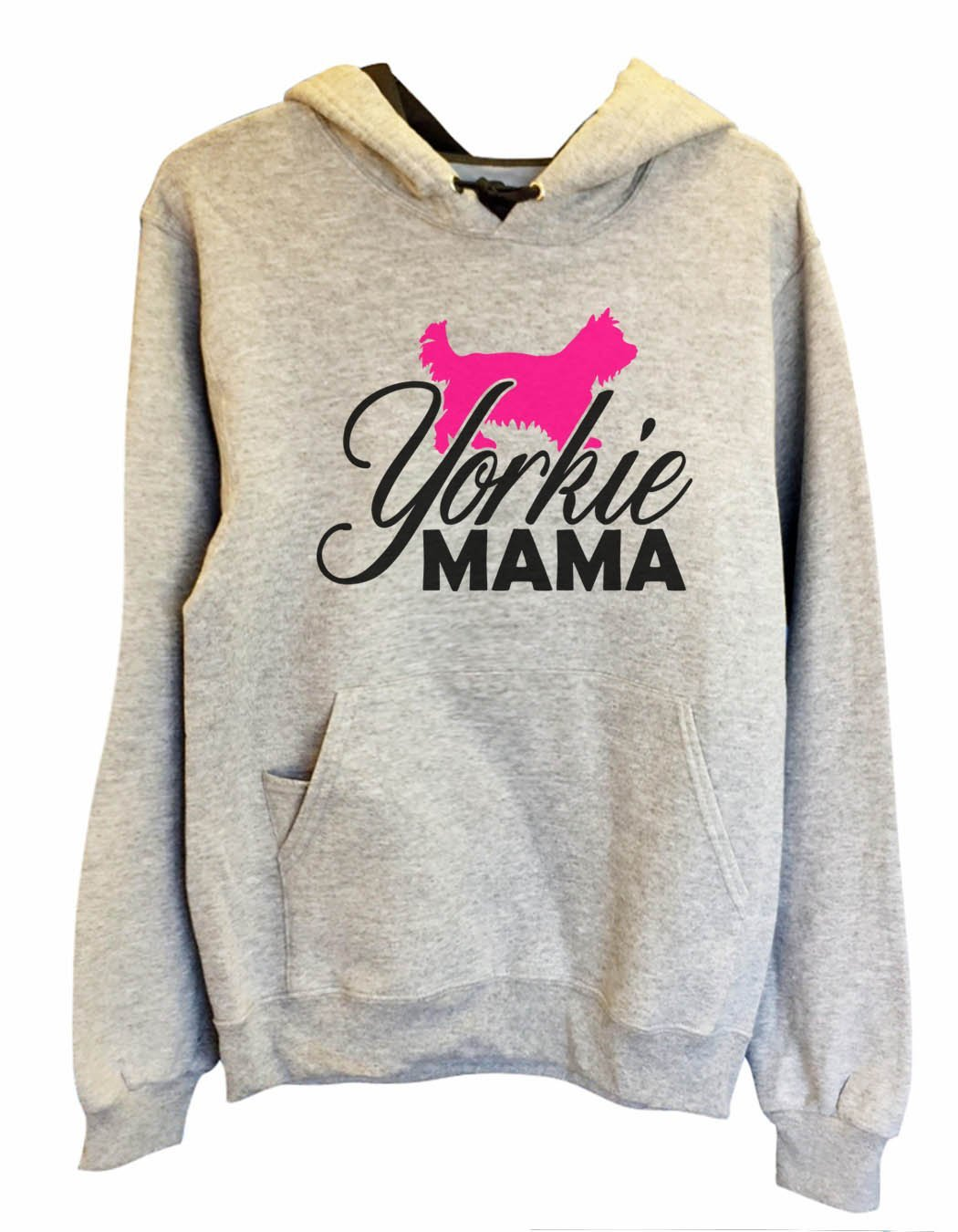 UNISEX HOODIE - Yorkie Mama - FUNNY MENS AND WOMENS HOODED SWEATSHIRTS - 2181 Funny Shirt Small / Heather Grey