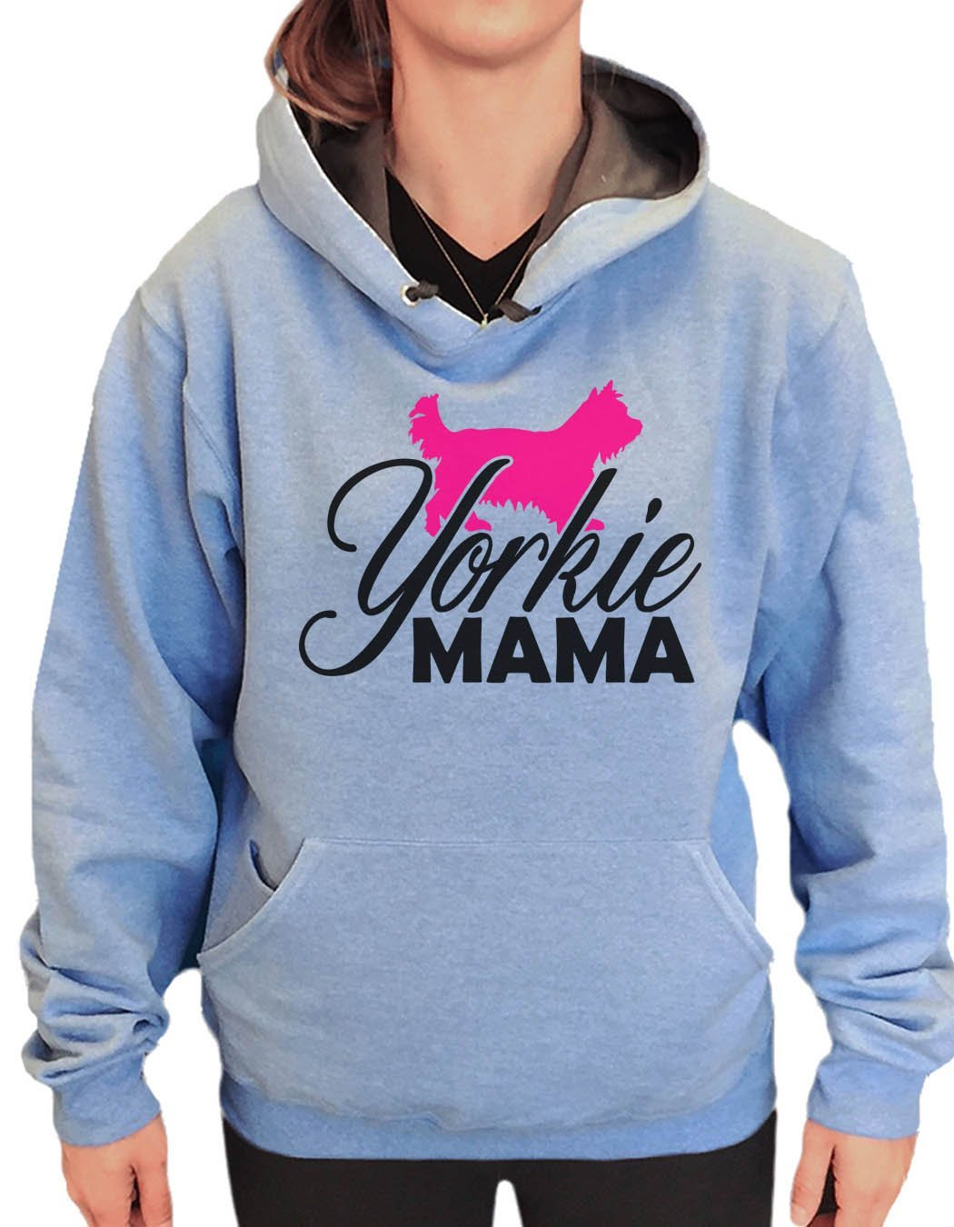 UNISEX HOODIE - Yorkie Mama - FUNNY MENS AND WOMENS HOODED SWEATSHIRTS - 2181 Funny Shirt Small / North Carolina Blue
