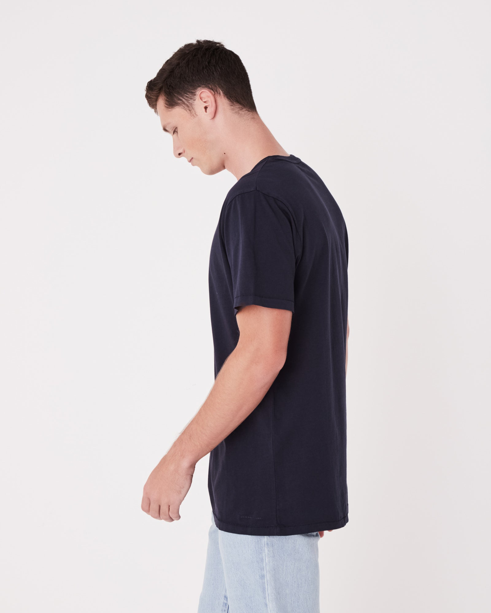 Mens Standard Cotton Jersey Everyday Tee True Navy