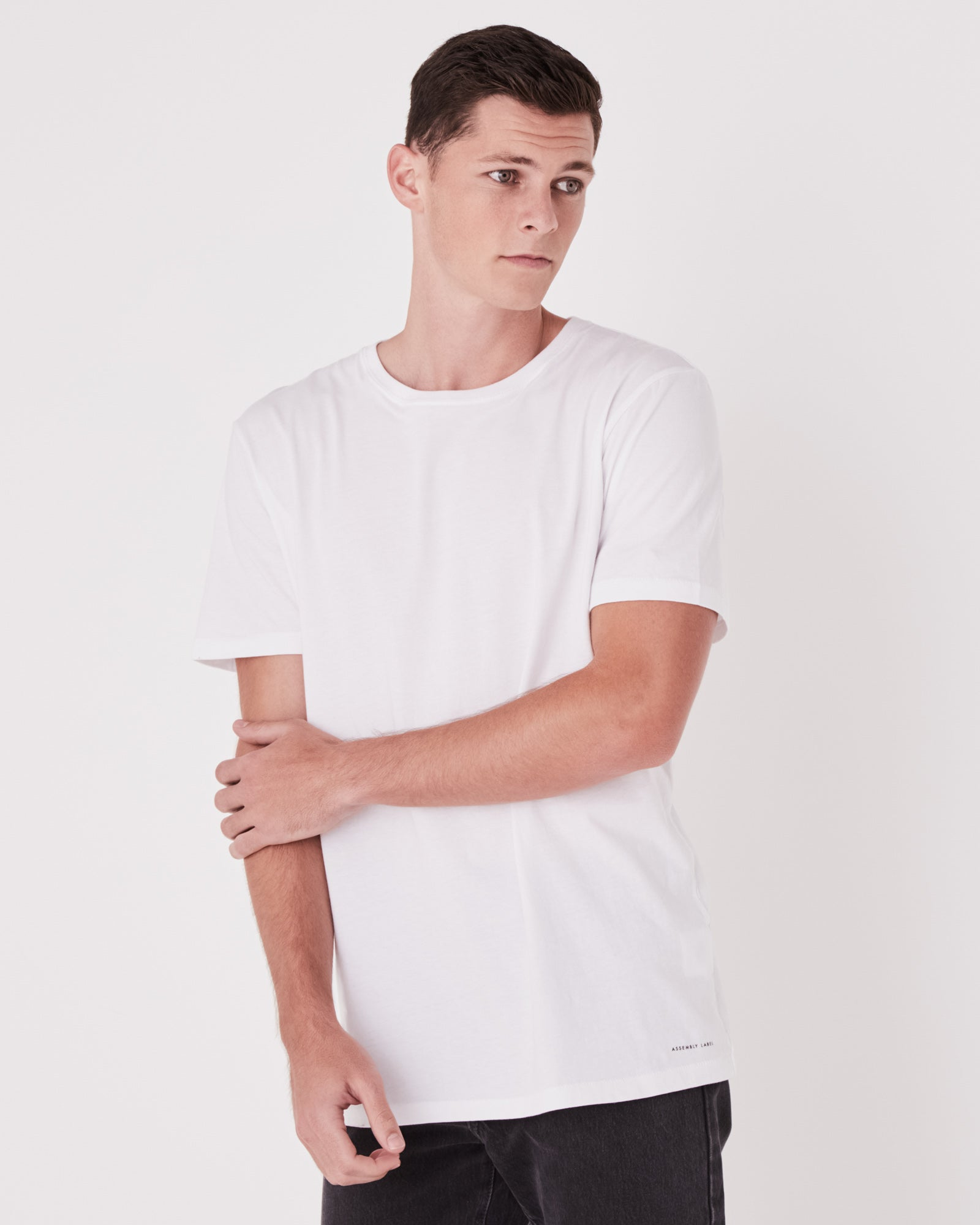 Mens Standard Cotton Jersey Everyday Tee White