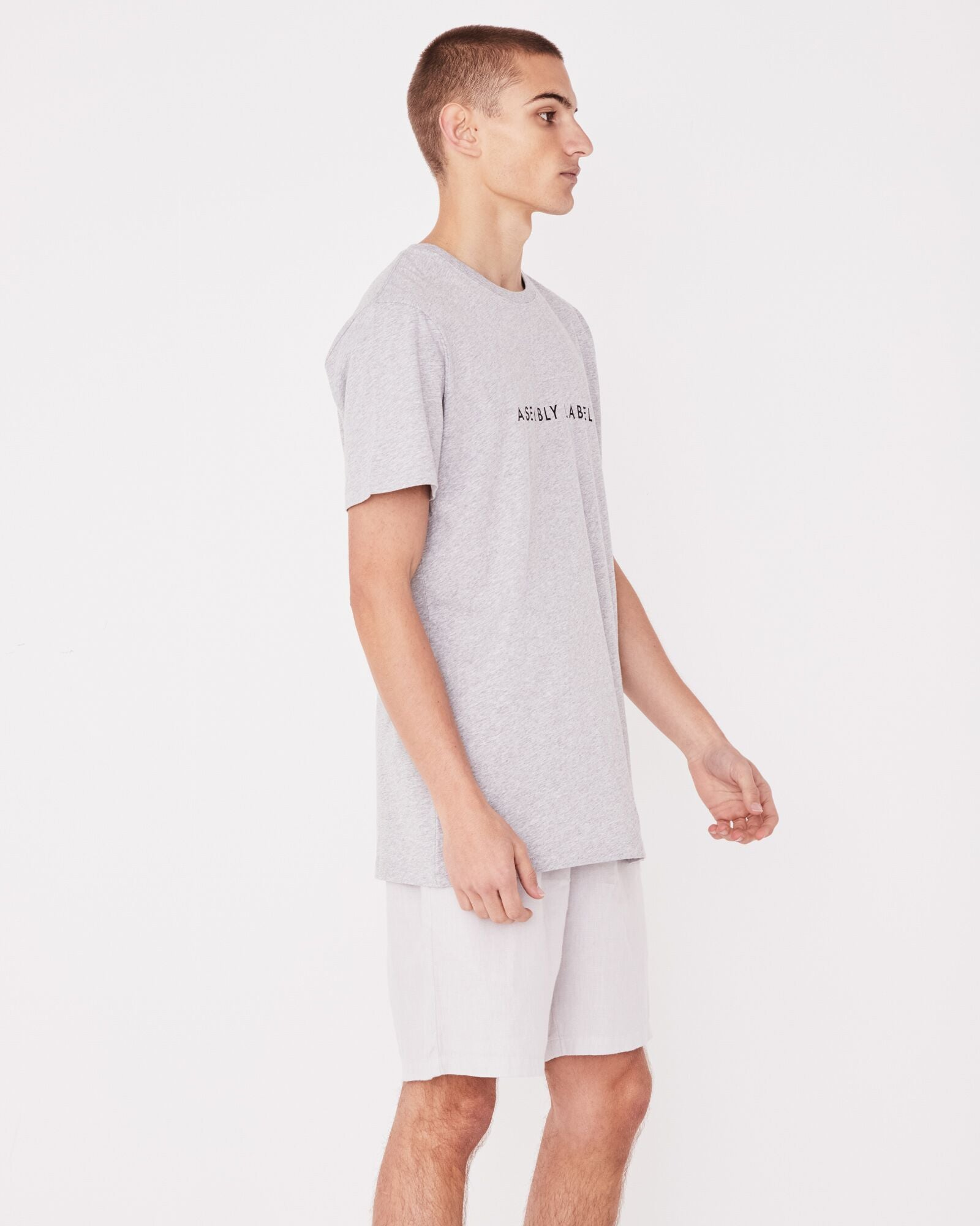 Logo Tee Mens Grey Marle