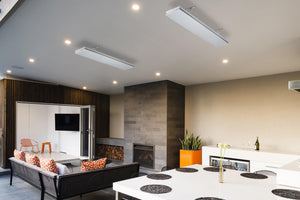 Outdoor heaters on ceiling