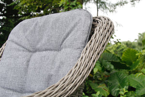 Wicker outdoor chair close-up