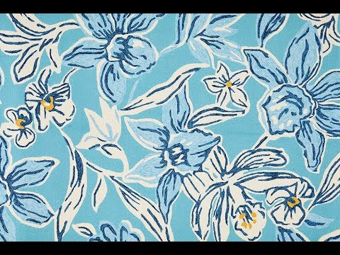 Copacabana Tropical Outdoor Rug — Blue